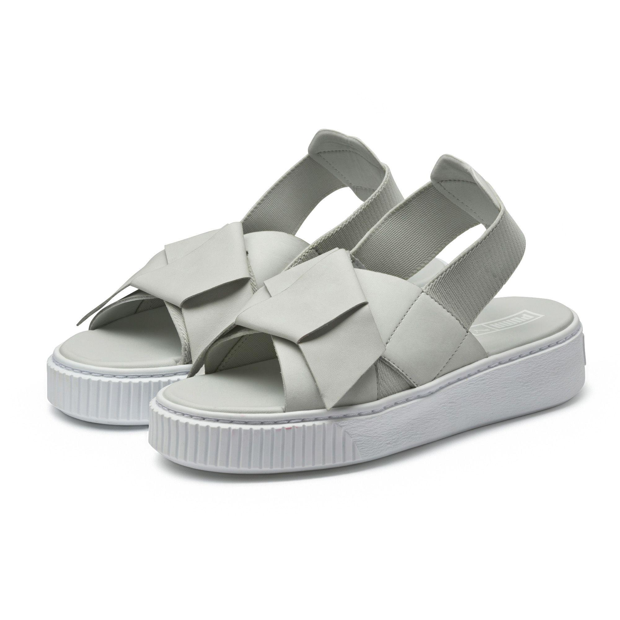 Lyst - PUMA Platform Leather Women s Sandals in Gray 844f374cd8