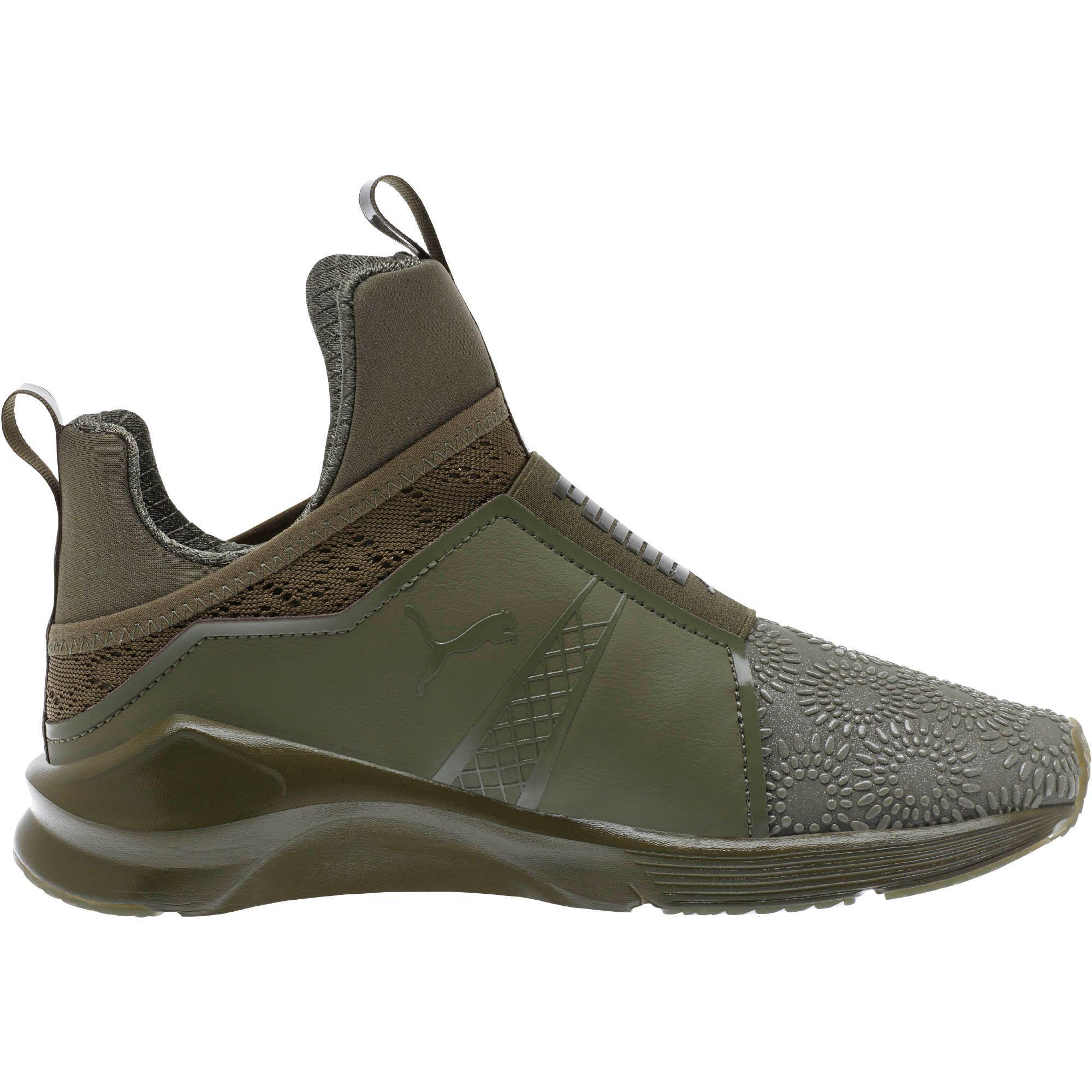 bdf59d60302 Lyst - PUMA Fierce Kurim Women s Training Shoes in Green