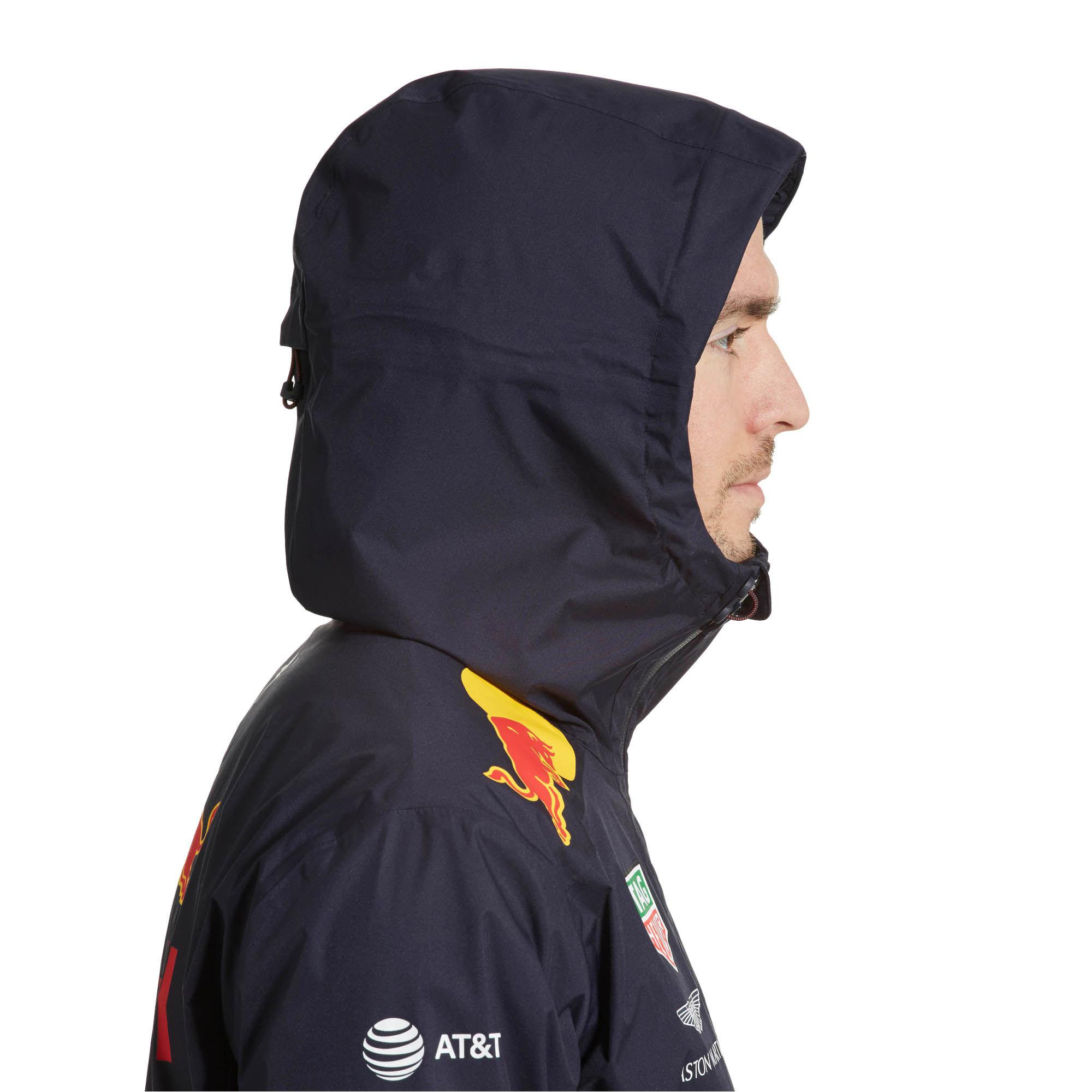 e918ad6acc2 Lyst - PUMA Red Bull Racing Men s Team Rain Jacket in Blue for Men