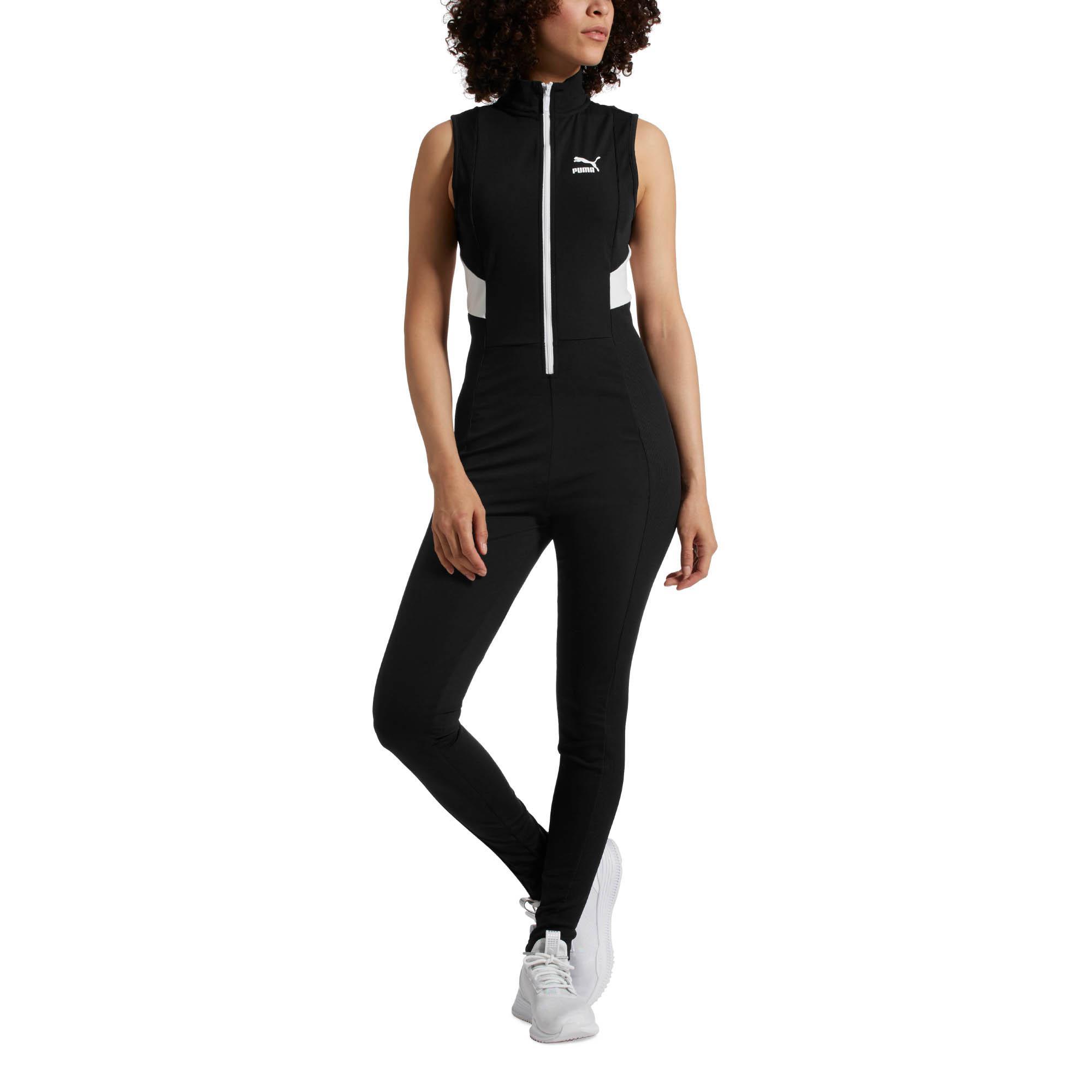 PUMA - Black Retro Rib Overall Jumpsuit - Lyst. View fullscreen 12b2ff73b