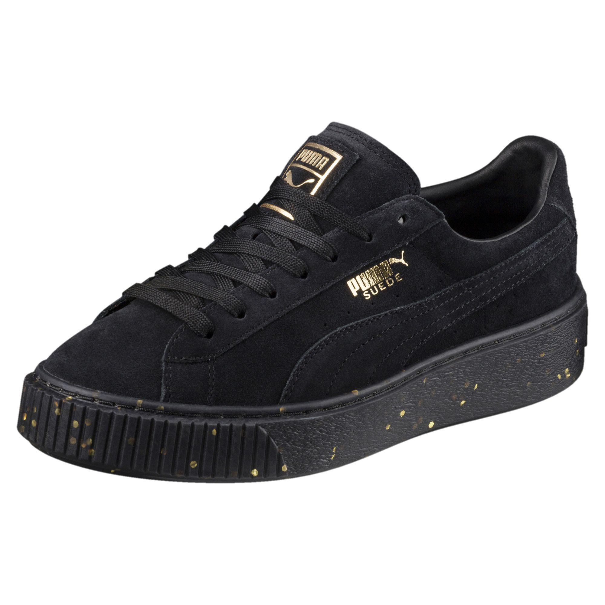 Plateforme En Daim Chaussures Puma Célébrer Baskets W Lo Or Noir Or Noir 5jHCpkrk