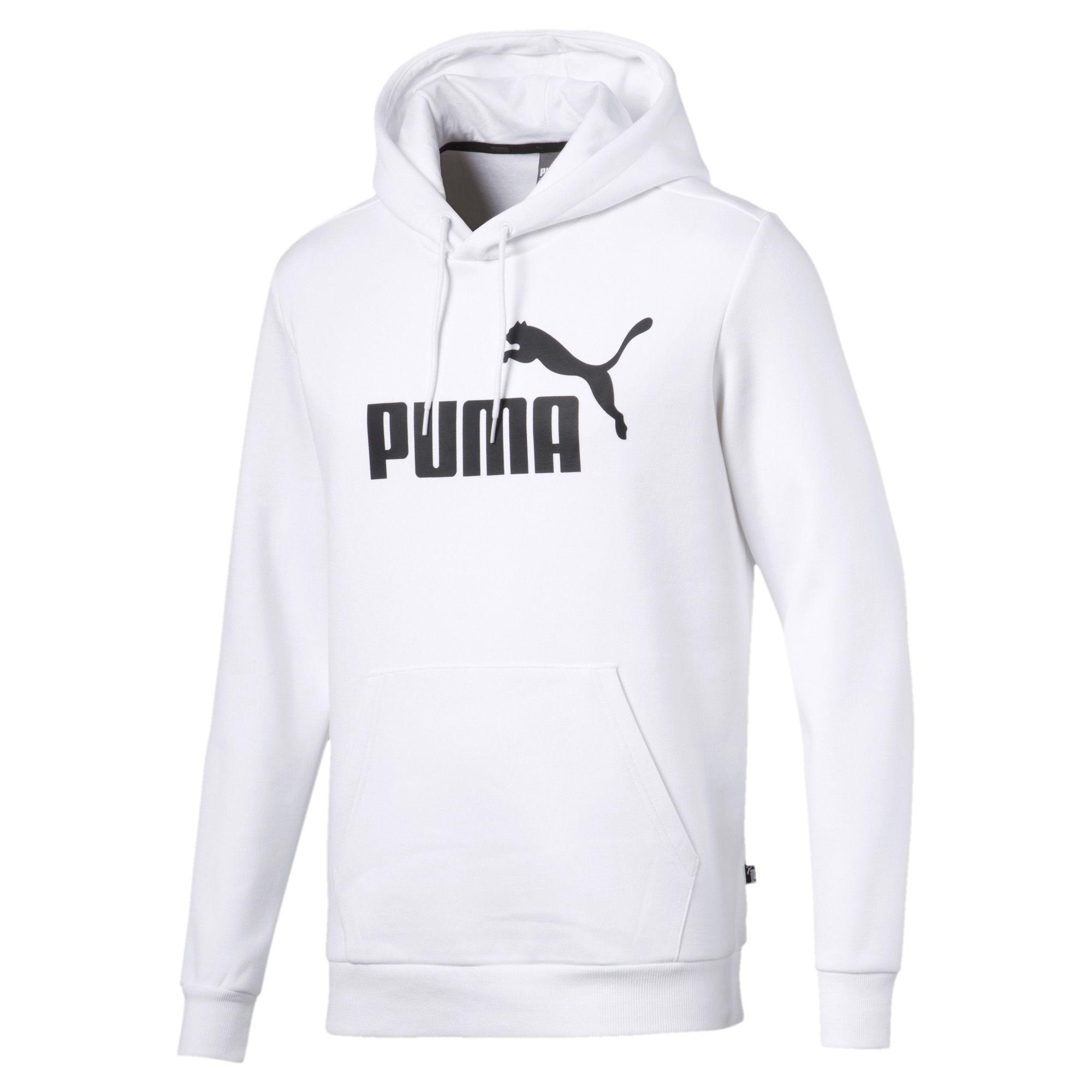 6eb07ee68 Lyst - PUMA Essentials Fleece Men s Hoodie in White for Men