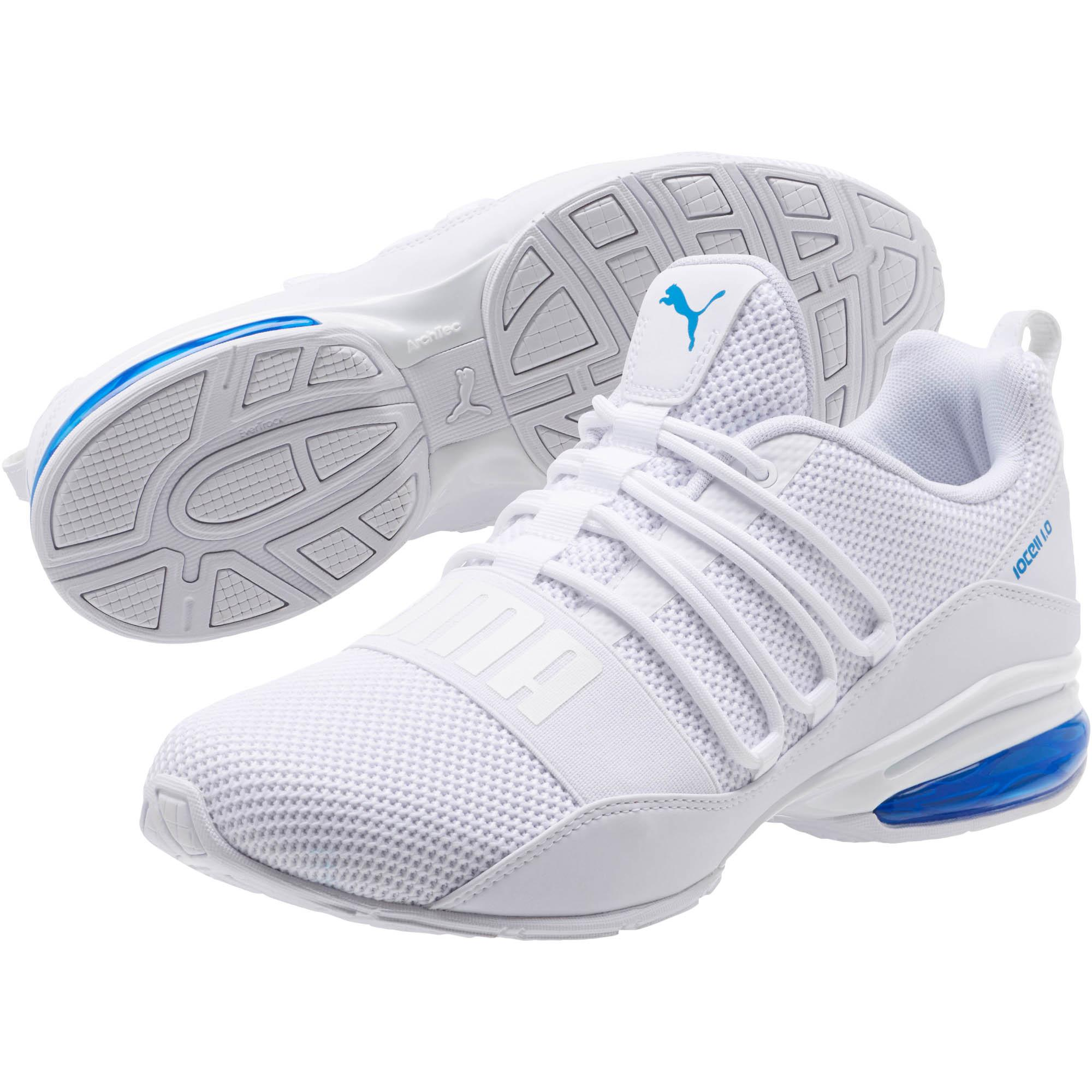 55f08ec155a PUMA - White Cell Regulate Woven Men s Running Shoes for Men - Lyst. View  fullscreen