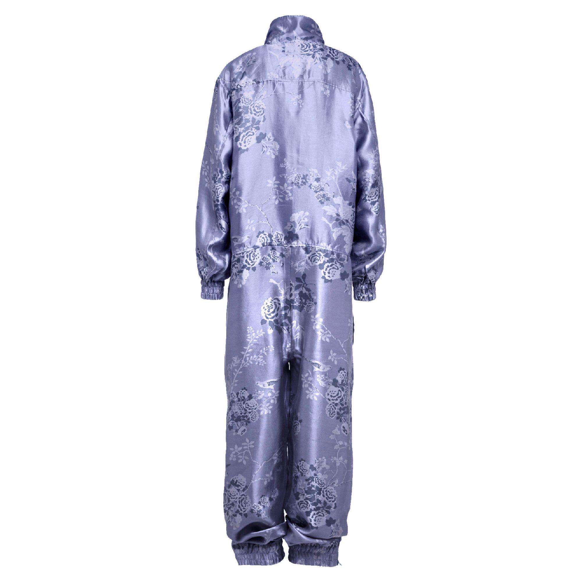 f23bf3c5cd Lyst - PUMA Silk Jacquard Active Jumpsuit in Blue
