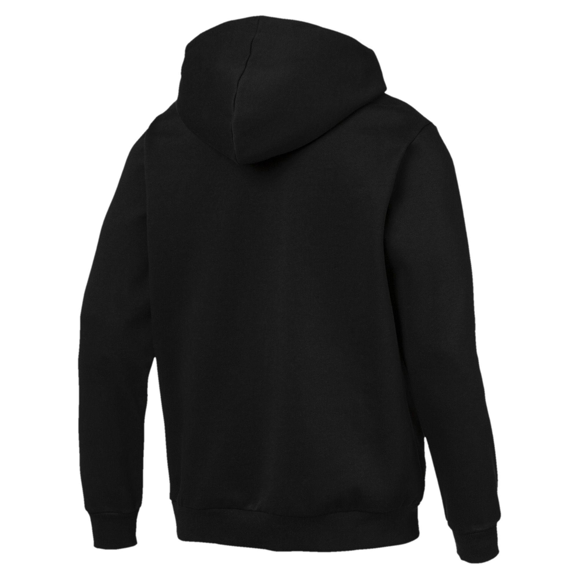 7aa3d6f7c836 PUMA - Black Essentials Hooded Jacket for Men - Lyst. View fullscreen