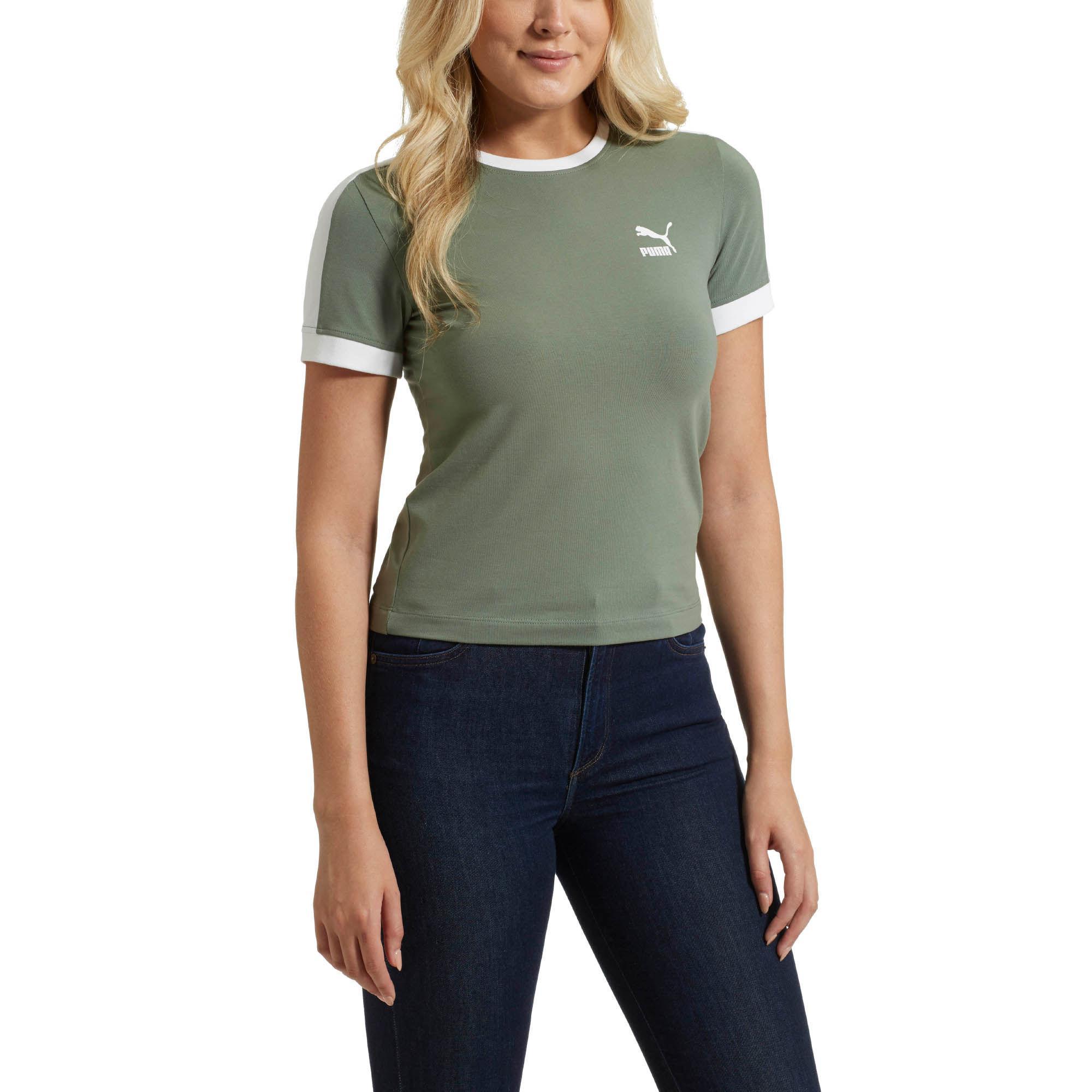 a2561a61901 PUMA Classic T7 Slim T-shirt in Green - Lyst