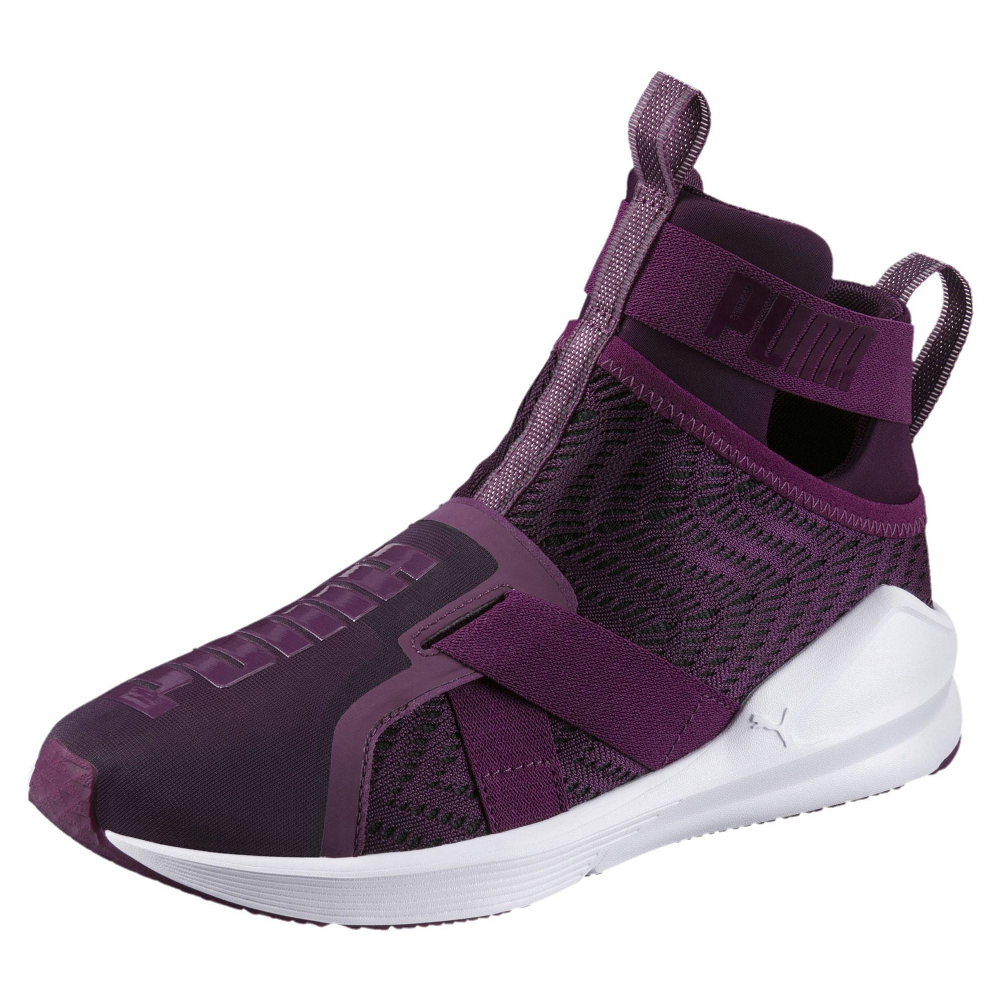 06e2bcbac50 Lyst - PUMA Fierce Strap Swirl Women s Training Shoes in Purple