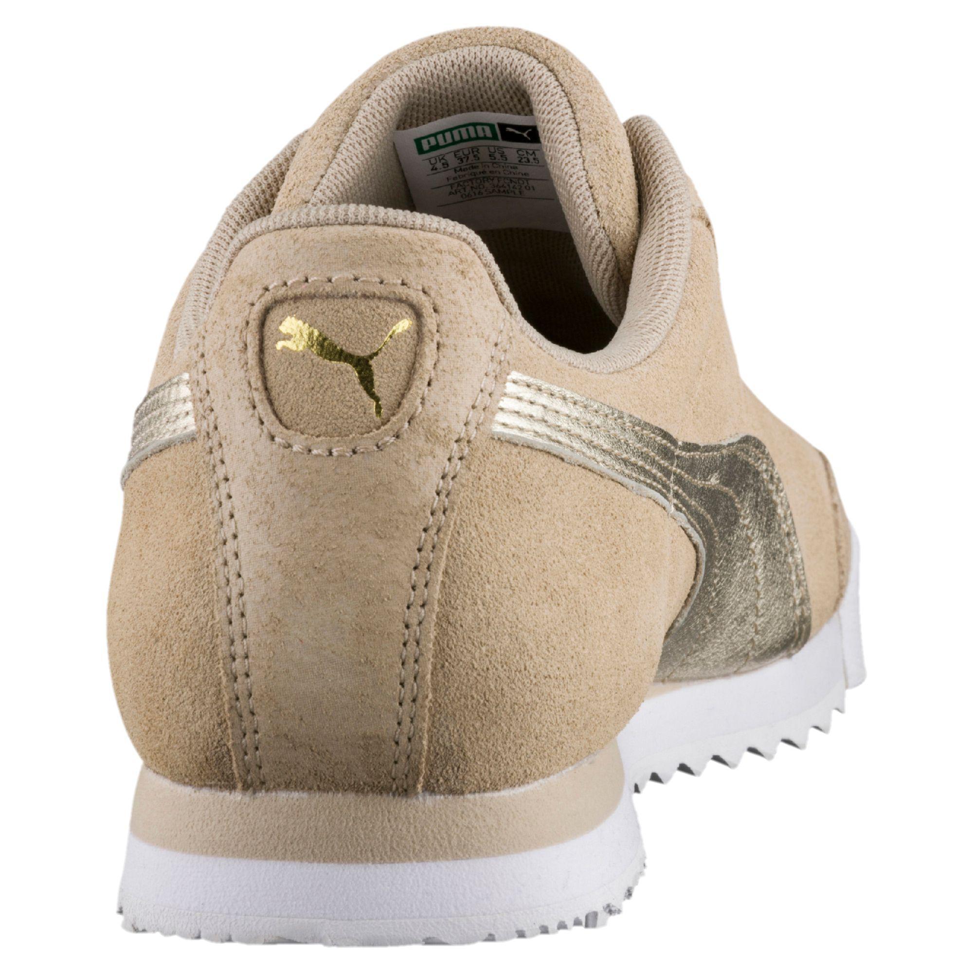 2dcdaf818486 Lyst - PUMA Roma Basic Metallic Safari Women s Sneakers in Metallic