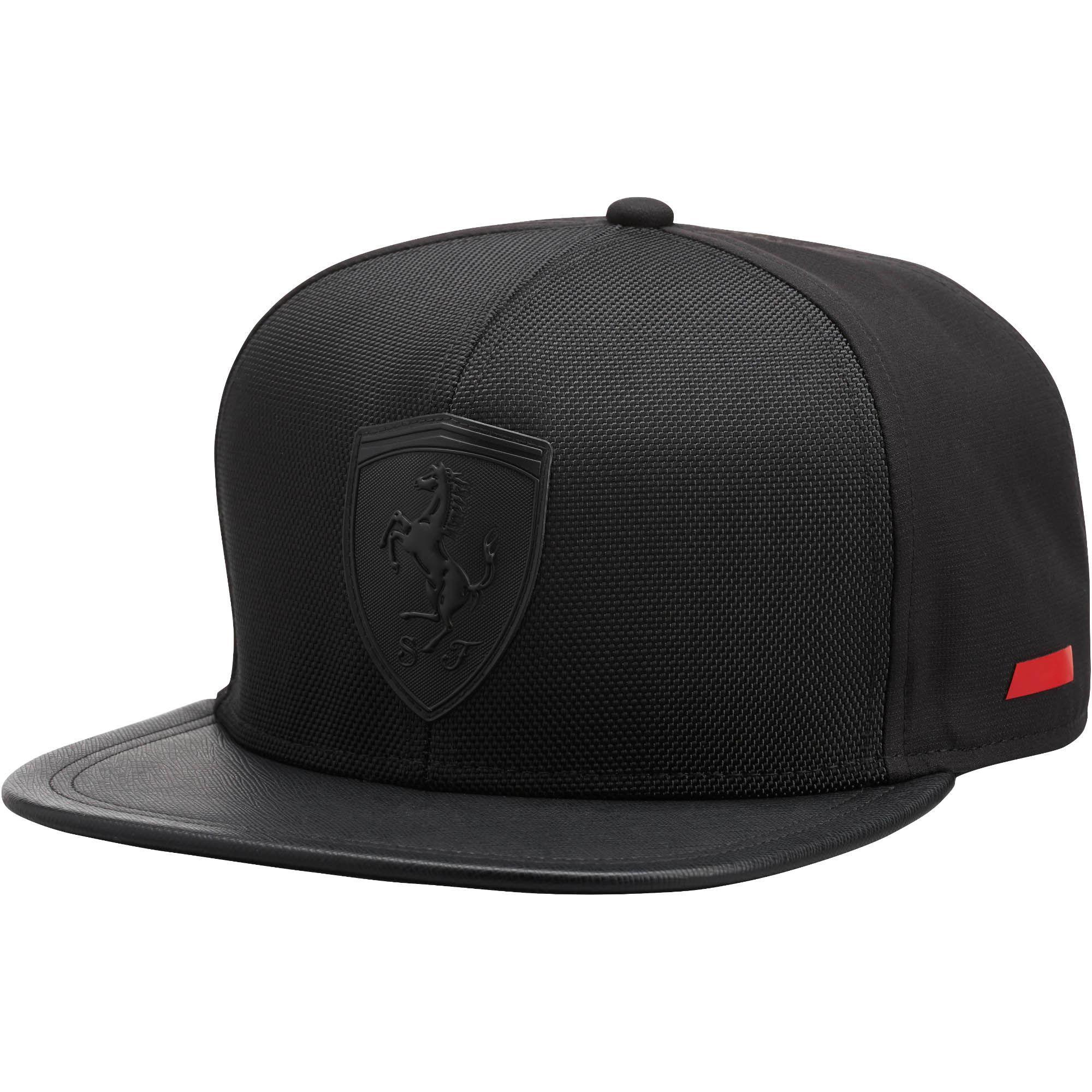 ... uk lyst puma ferrari flat brim hat in black for men 475a9 a341a 72cc22fb6d9