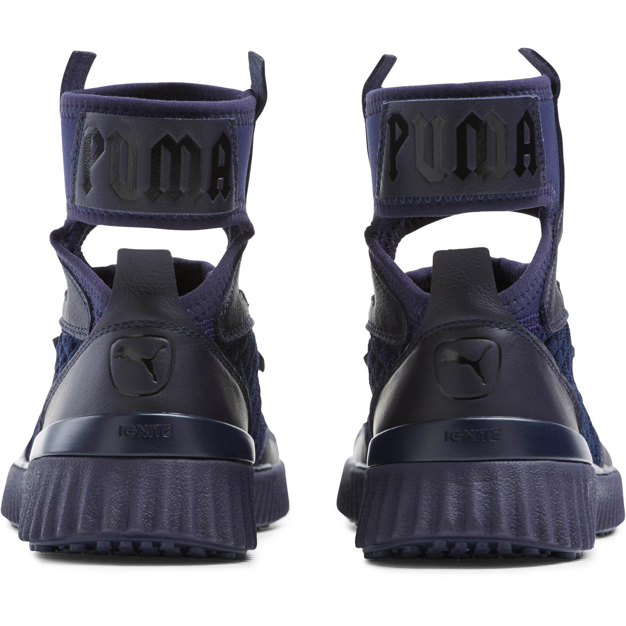 detailed look 2e048 00bf9 PUMA Fenty Trainer Mid Geo Sneakers in Blue - Lyst