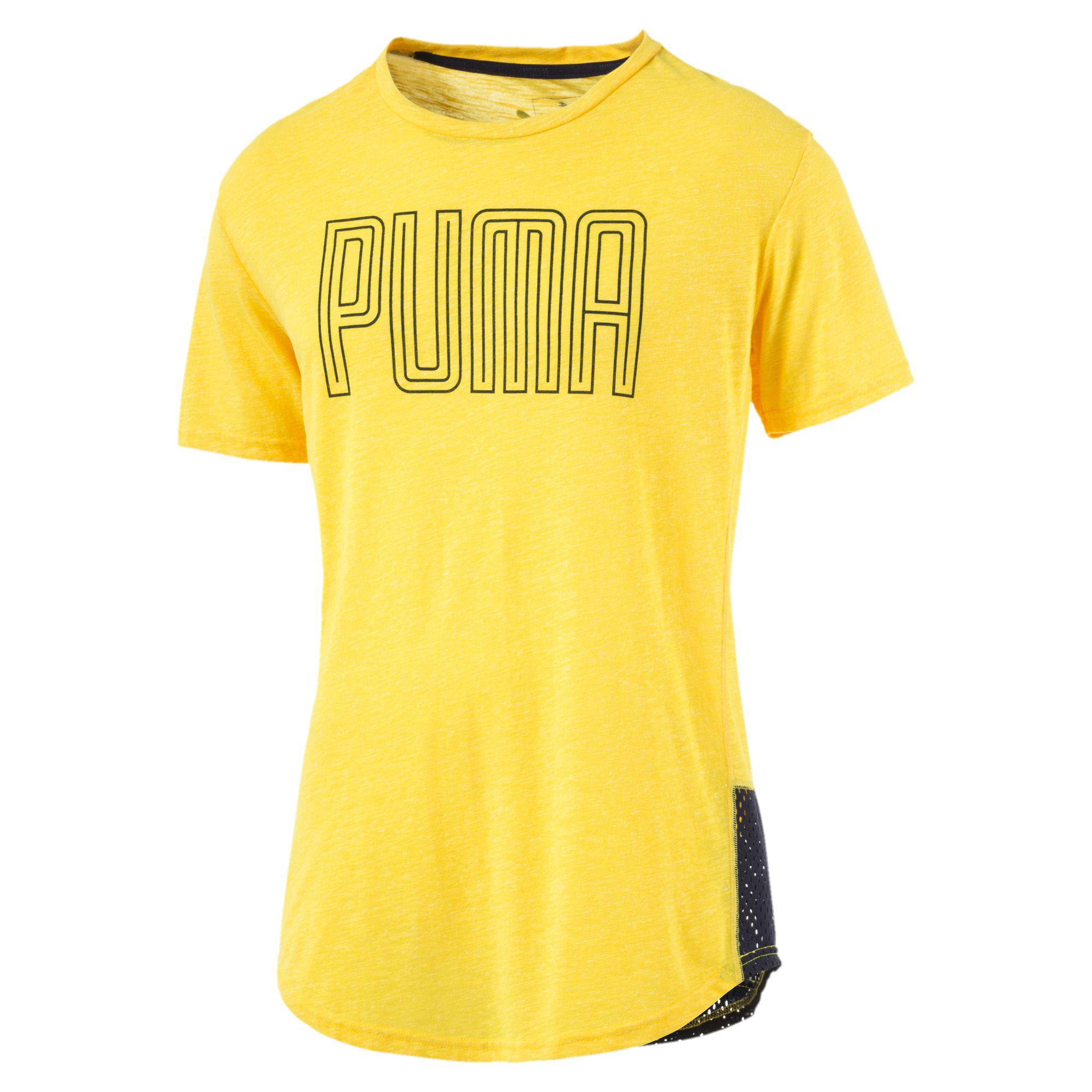 31b3b6733 PUMA Drirelease® Novelty Graphic T-shirt in Yellow for Men - Lyst