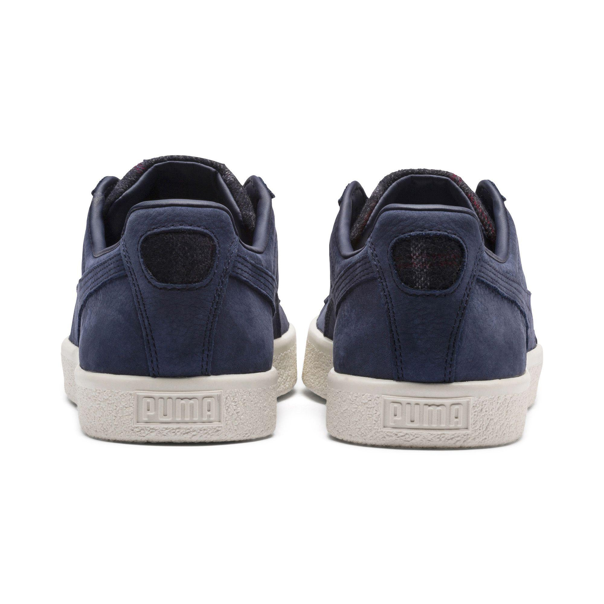 Lyst - PUMA Clyde Plaid Sneakers in Blue for Men aed7a7744