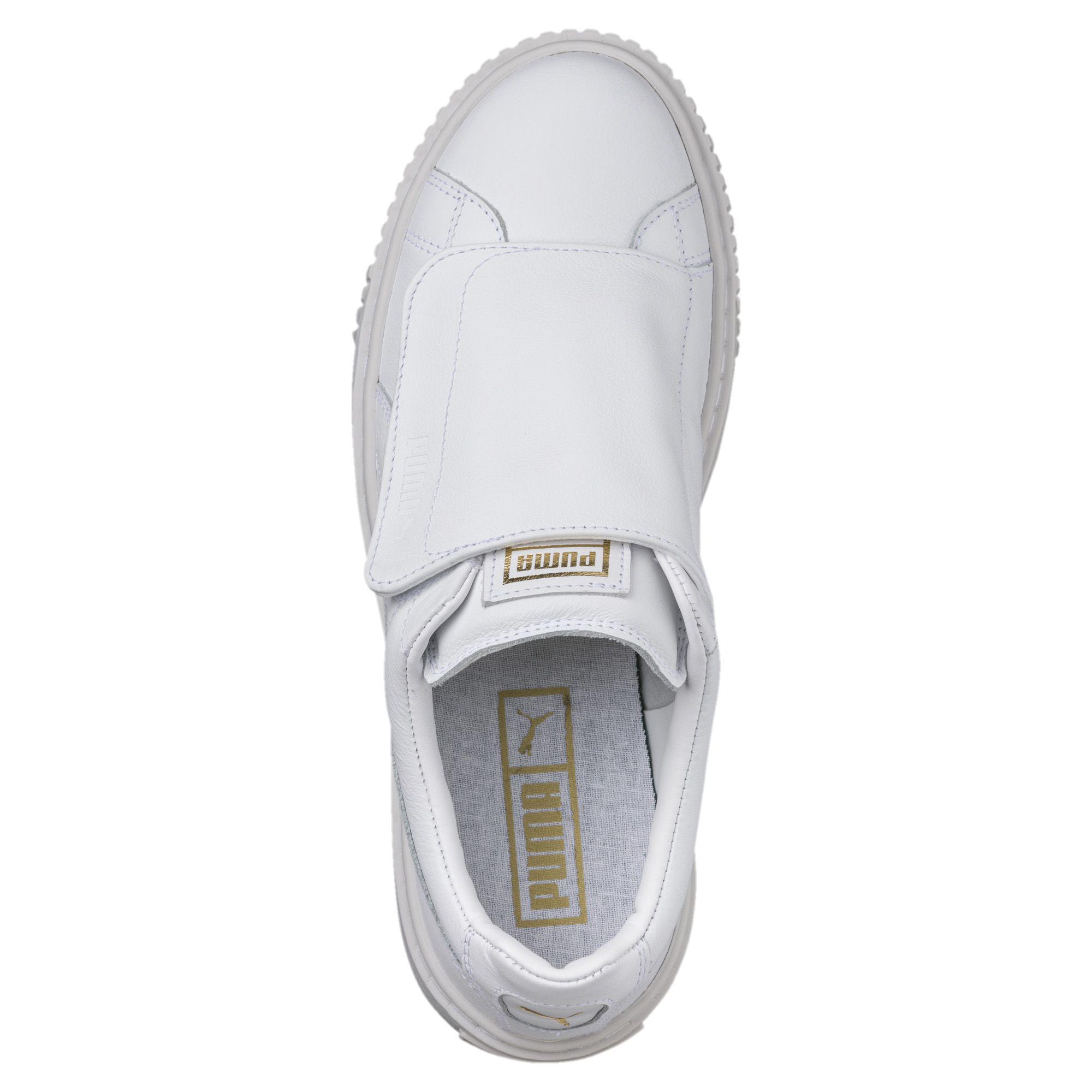 460ff7be51dc7c Lyst - PUMA Basket Platform Big Strap Women s Sneakers in White