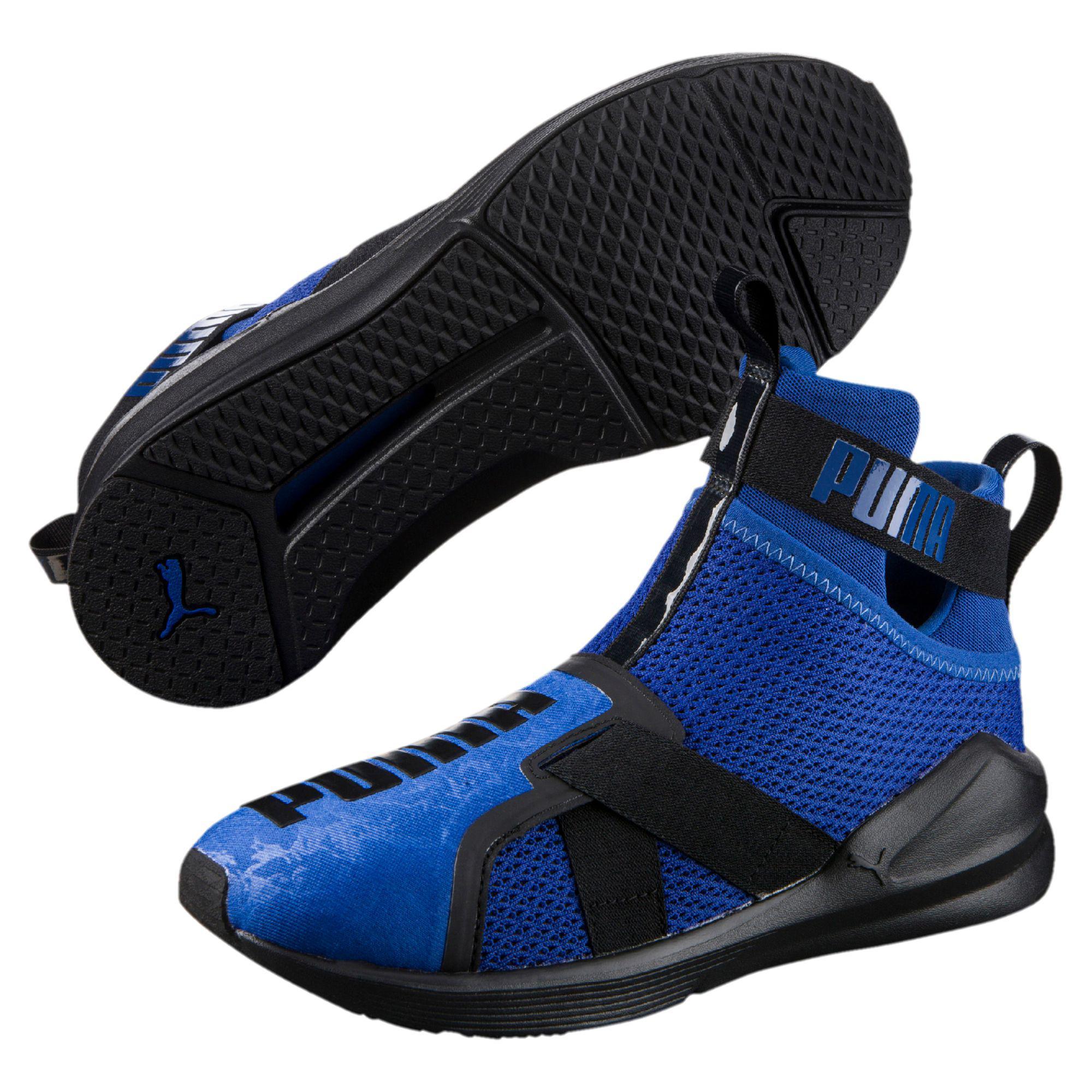 bd2ddb74a1b Lyst - PUMA Fierce Strap Women s Training Shoes in Blue
