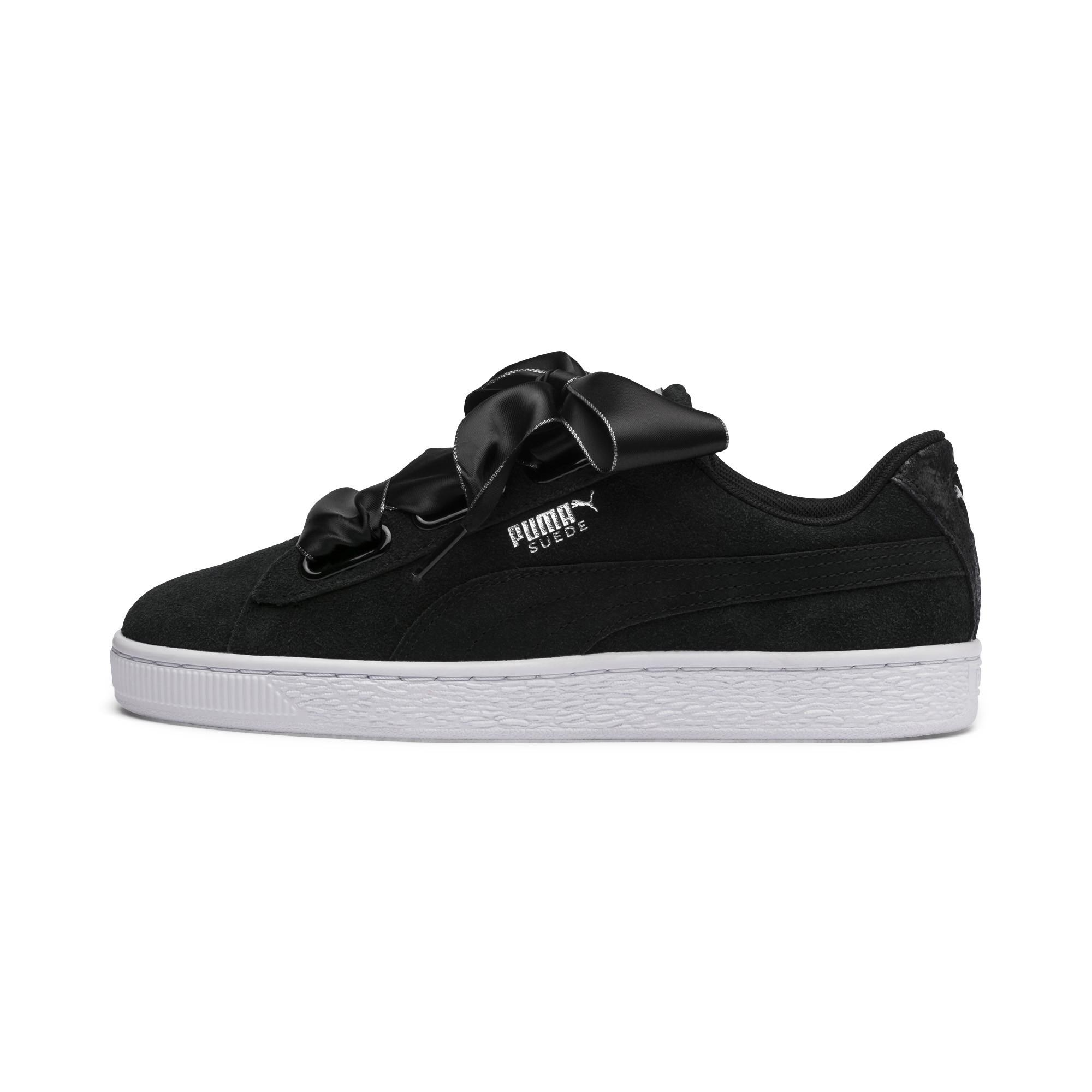 7a6e9df47fb5e8 Lyst - PUMA Suede Heart Galaxy  s Sneakers in Black