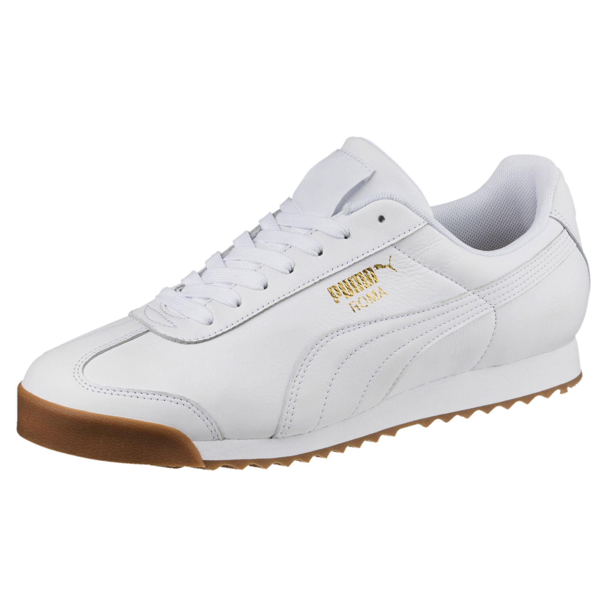 Lyst - PUMA Roma Classic Gum Sneakers in White 5f70d920a