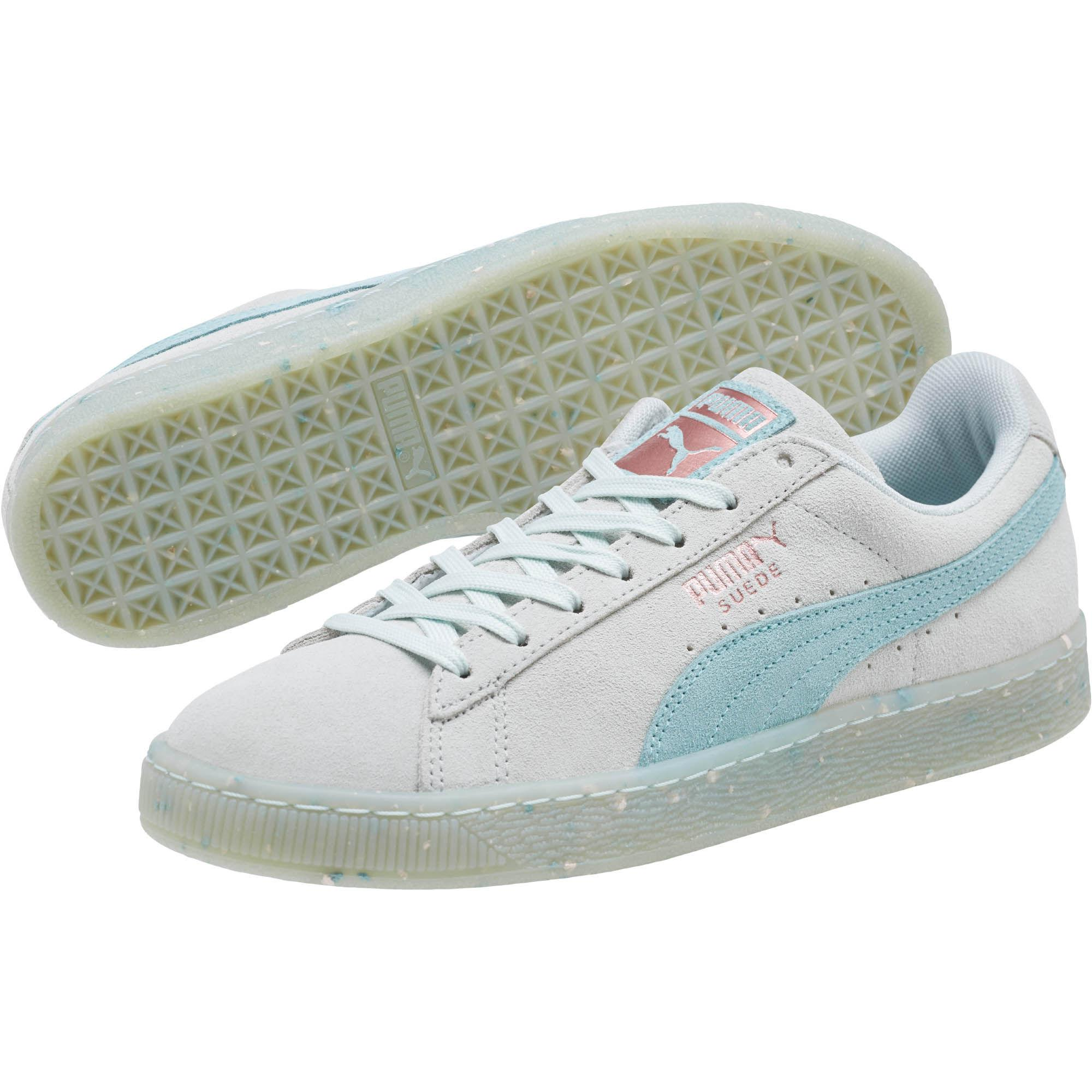 PUMA - Blue Suede Classic Glitz Women s Sneakers - Lyst. View fullscreen 1b752df9d