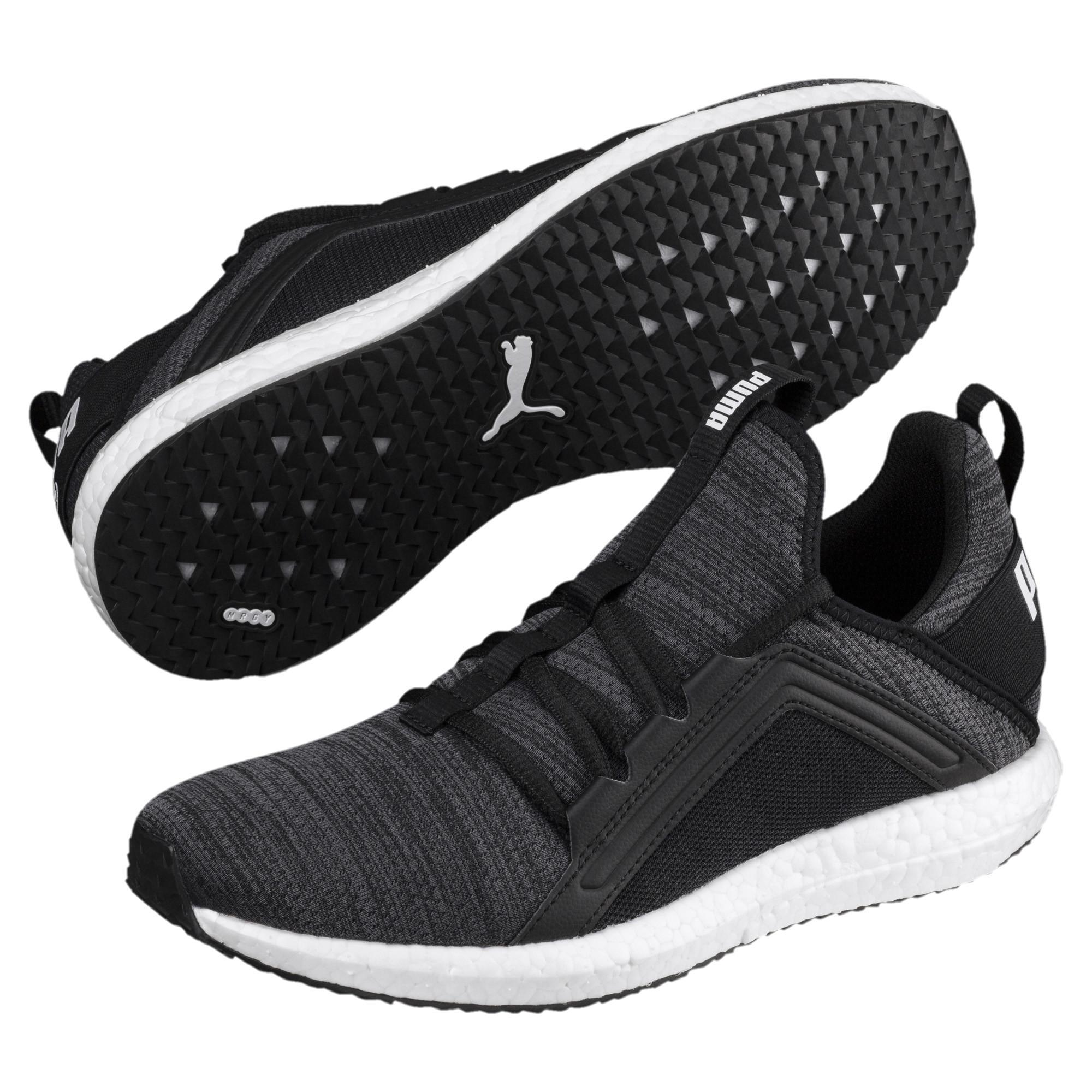 710a52cbd2edb6 PUMA - Black Mega Nrgy Heather Knit Women s Running Shoes - Lyst. View  fullscreen