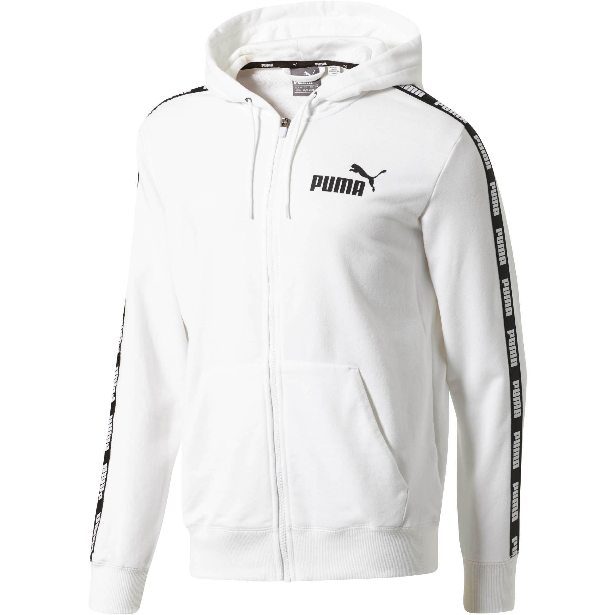 9544f37bd623 Lyst - PUMA Rebel Tape Full-zip Hoodie in White for Men