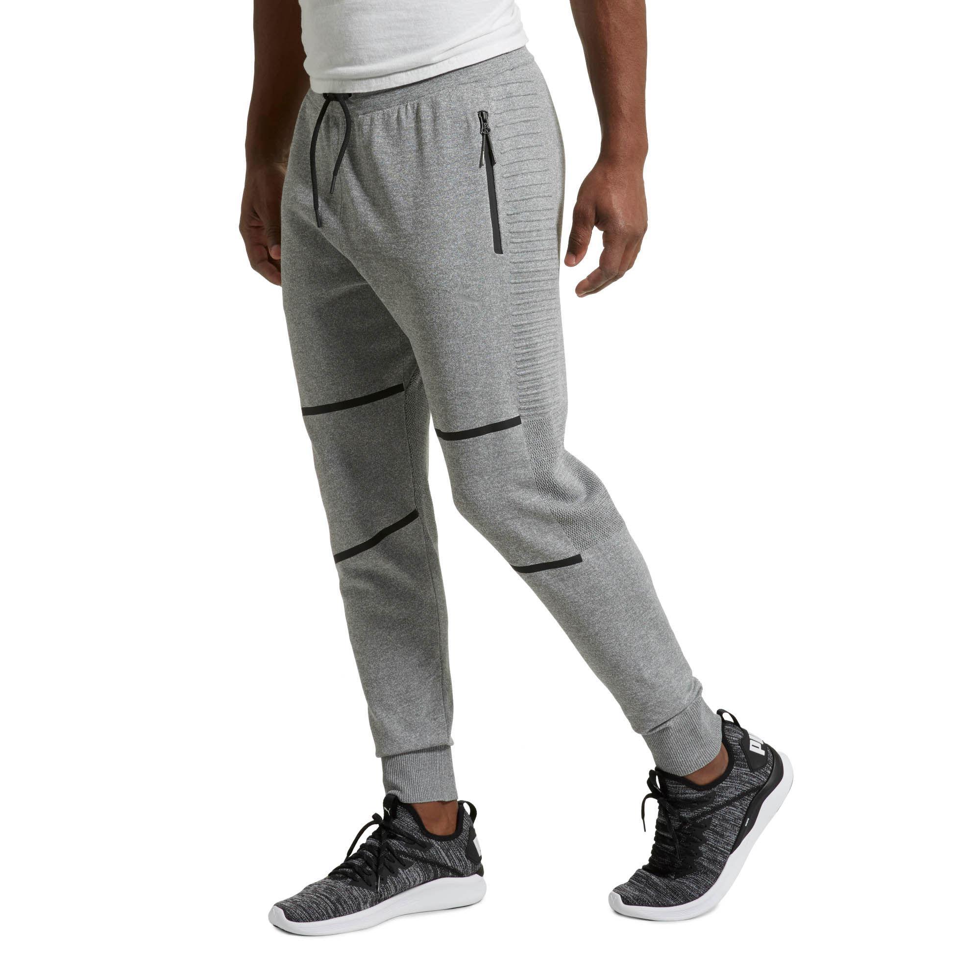 86097c455de2 PUMA - Gray Evoknit Men s Energy Trackster Pants for Men - Lyst. View  fullscreen