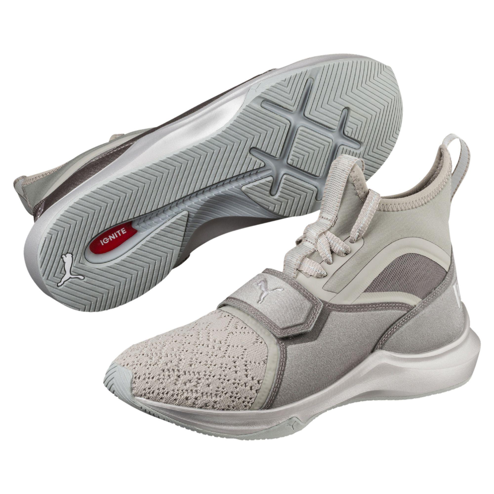 PumaPHENOM EN POINTE - Sports shoes - rock ridge/metallic beige yxpBHYEcB