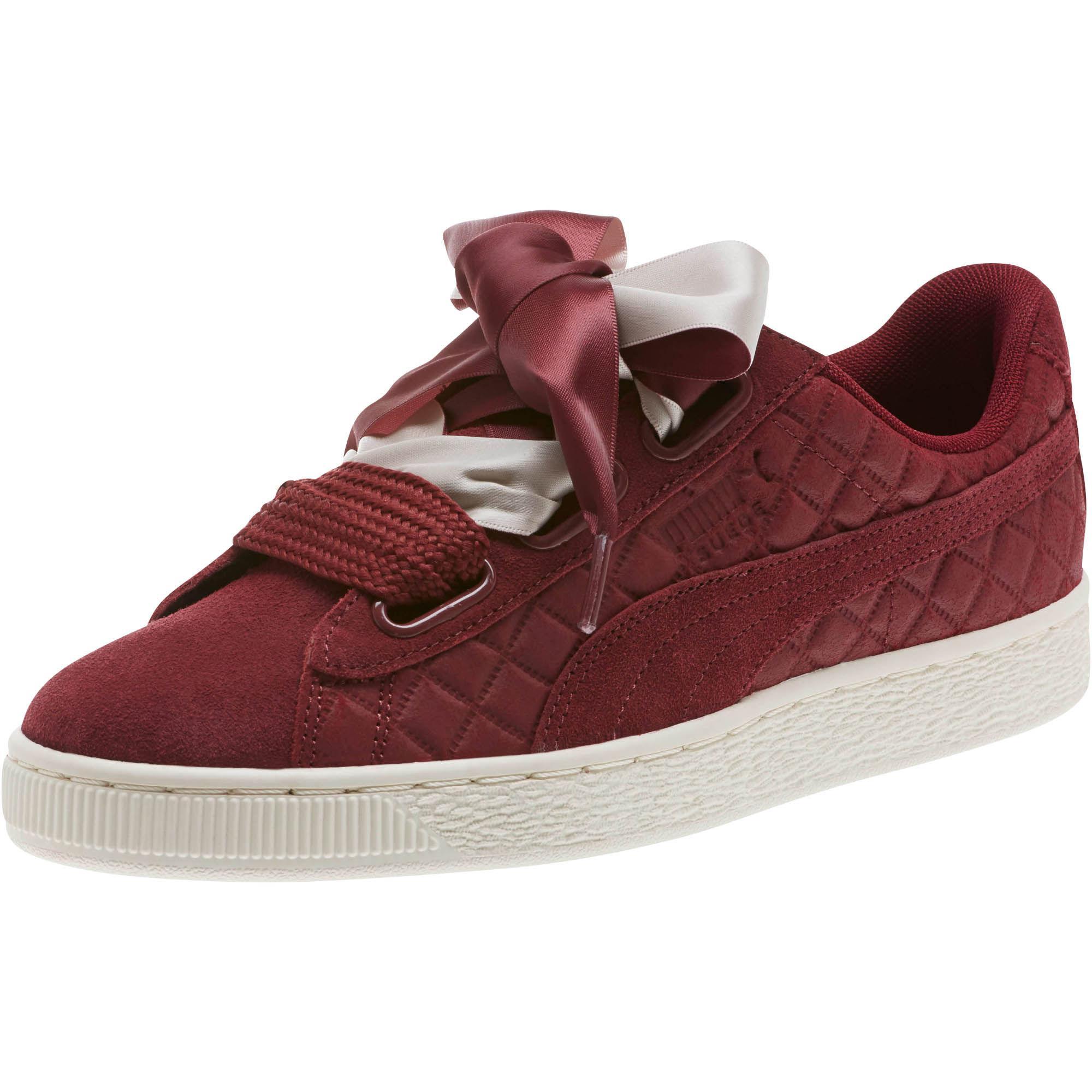 6e947ce1b8f34c Lyst - PUMA Suede Heart Quilt Women s Sneakers