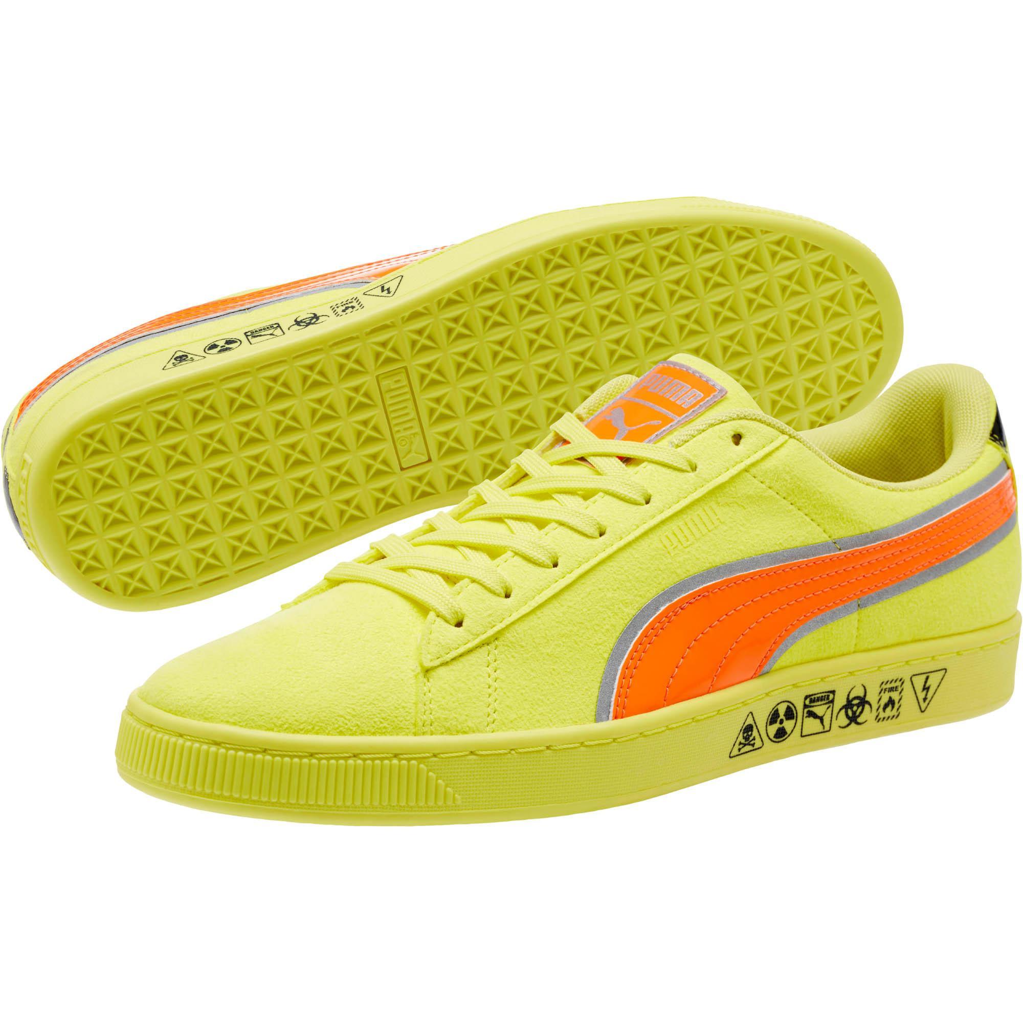 9406d6c2d5fd8 Lyst - PUMA Hazard Yellow Suede Sneakers in Yellow for Men