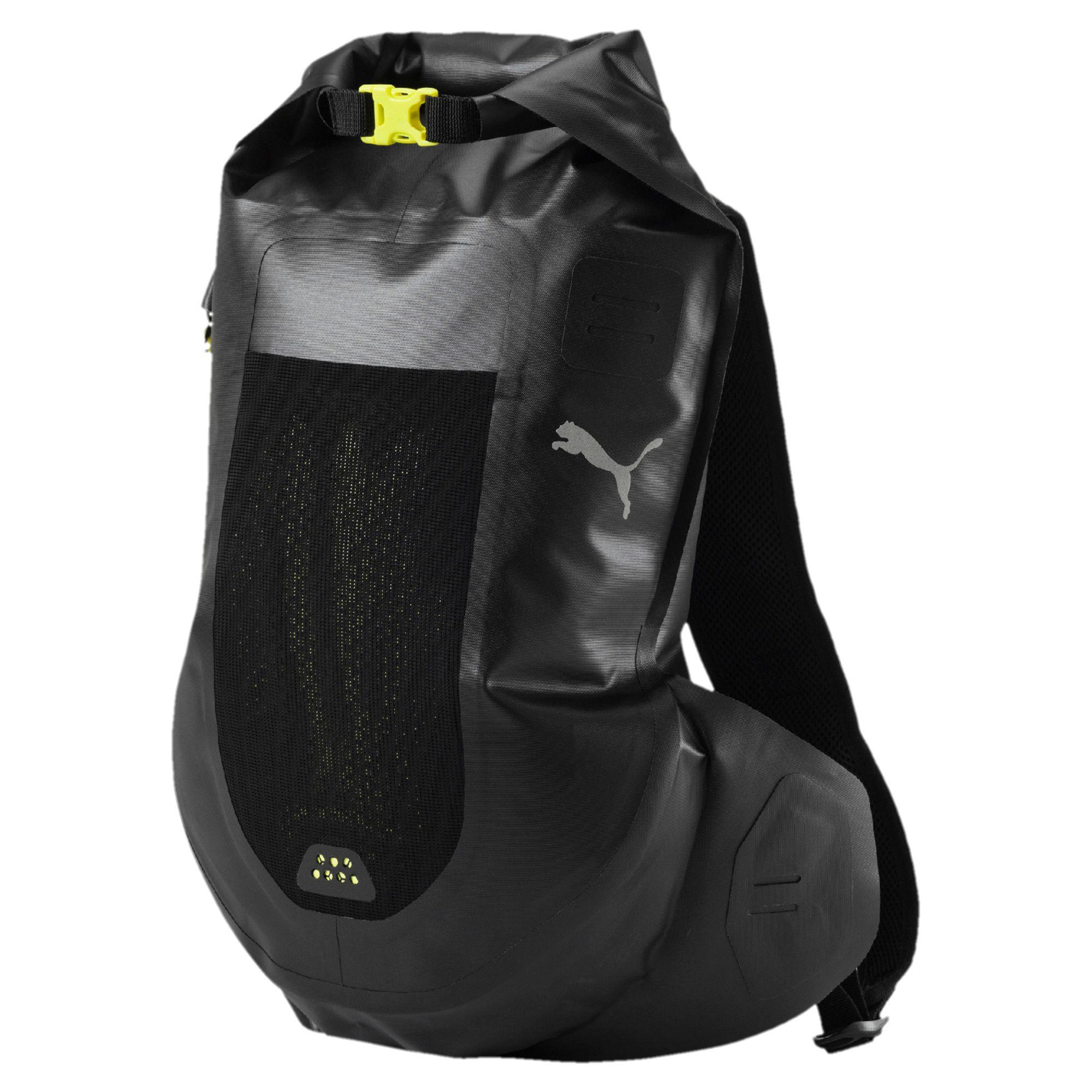 puma running waterproof backpack in black for men lyst