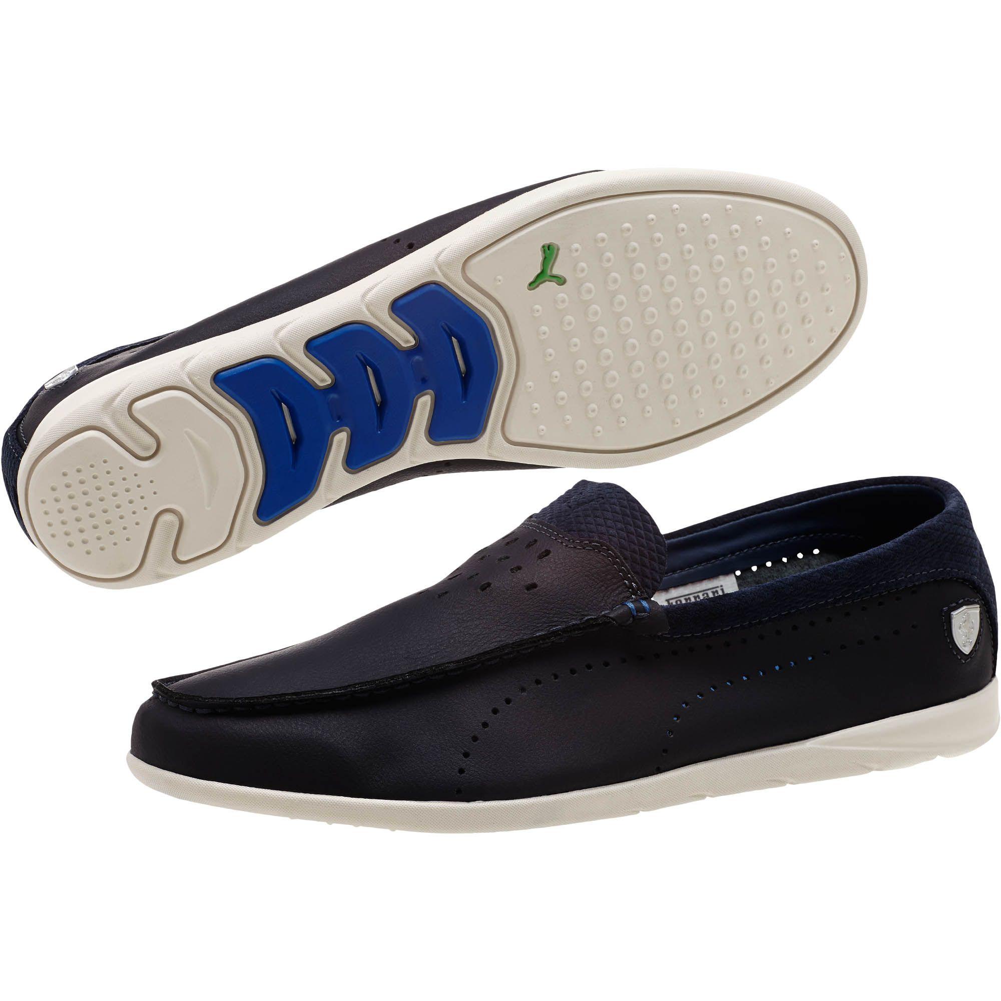 684d87db56c8 low cost lyst puma ferrari guida moccasin mens slip on shoes in blue for  men d4240