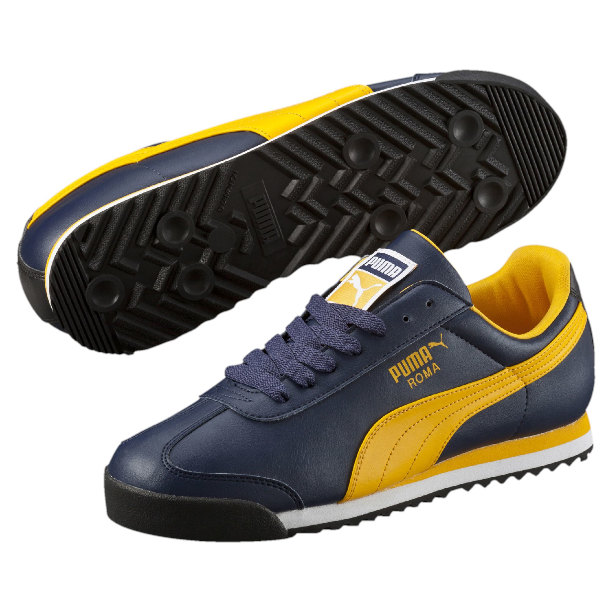 new arrival b9352 4e38b PUMA Roma Men s Sneakers in Yellow for Men - Lyst