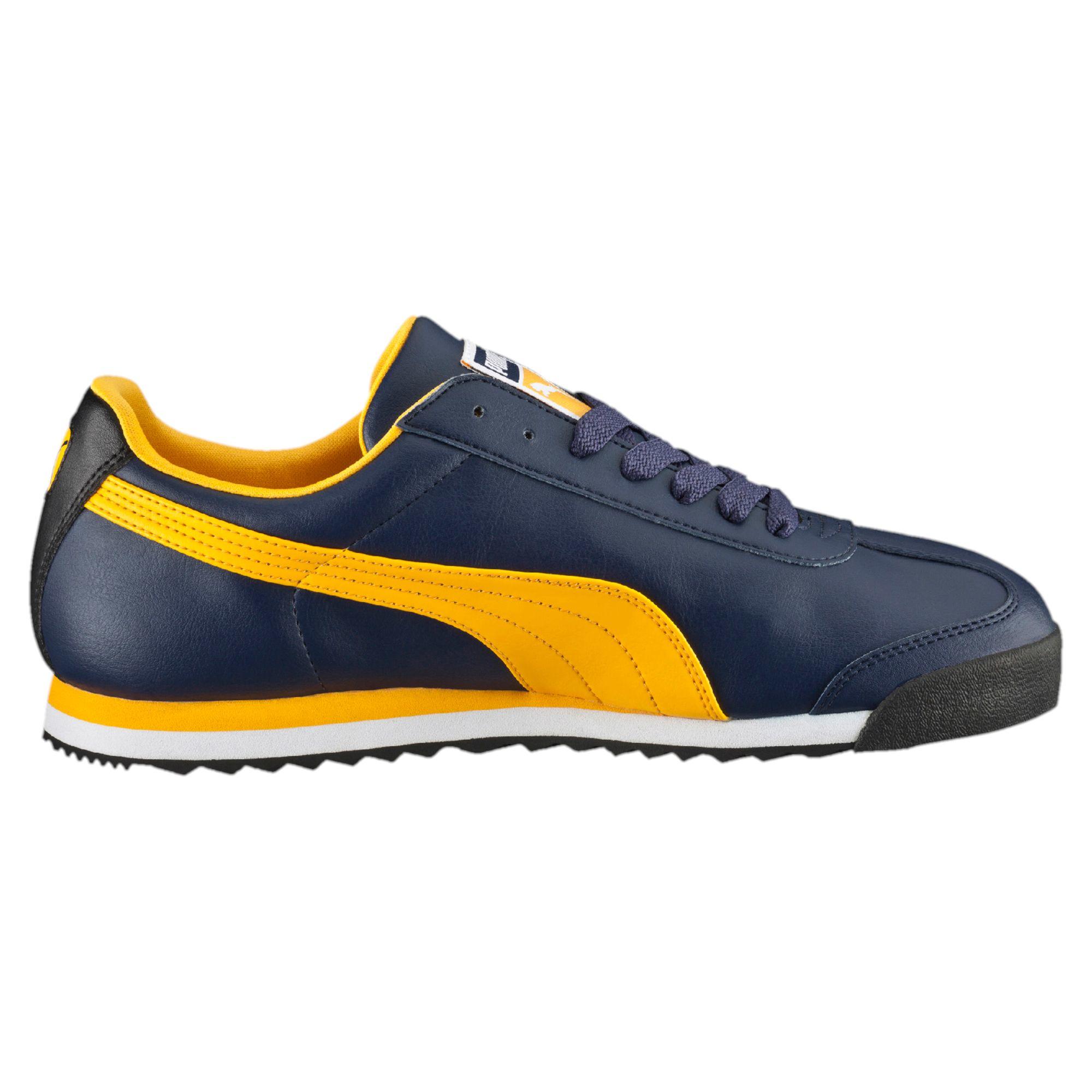 new concept e1d06 b6b64 ... puma roma slim nylon dark blue orange  puma evopower 1 fg soccer boots  cleats blue pink white ...