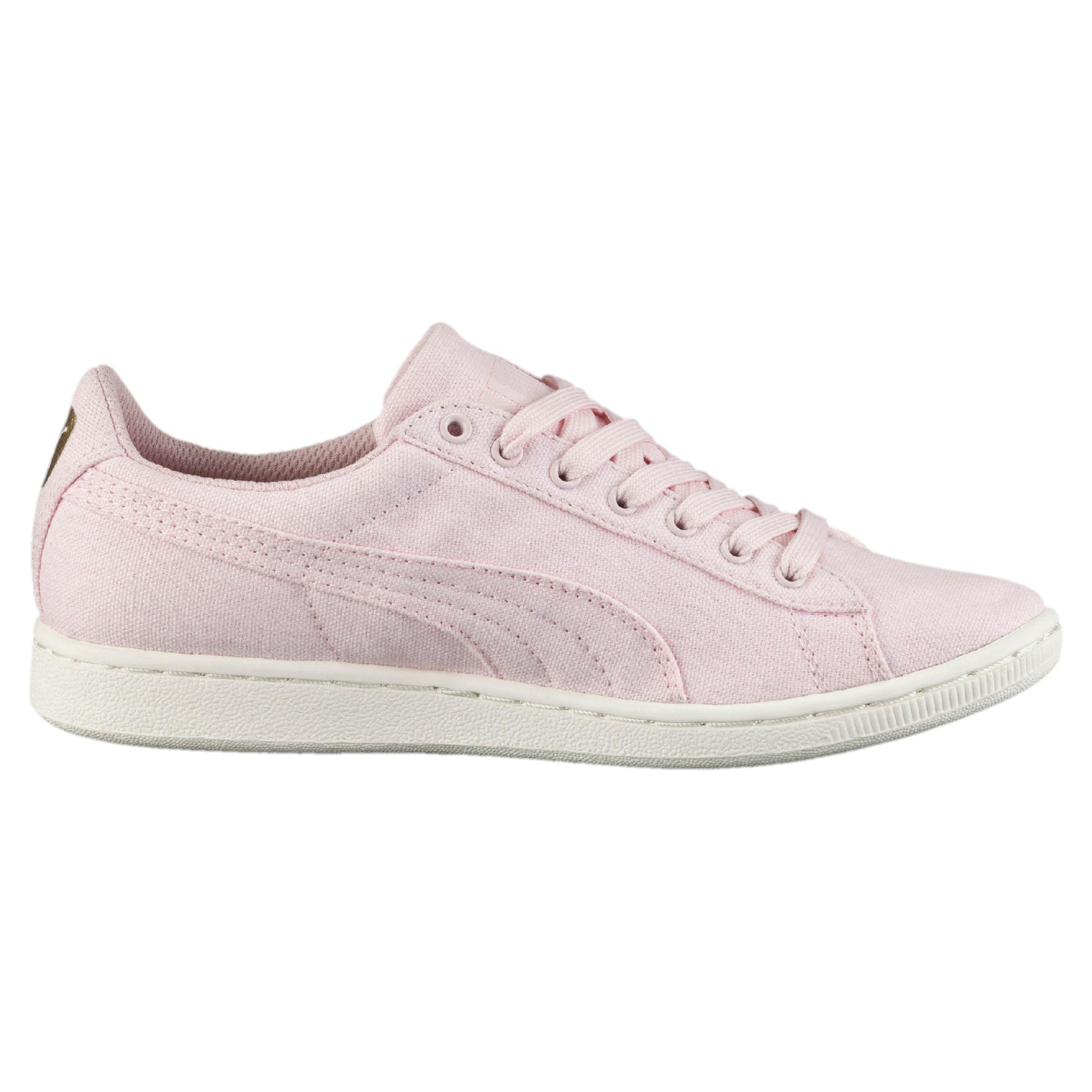 8aa8e6da9307 Lyst - PUMA Vikky Canvas Women s Sneakers in Pink
