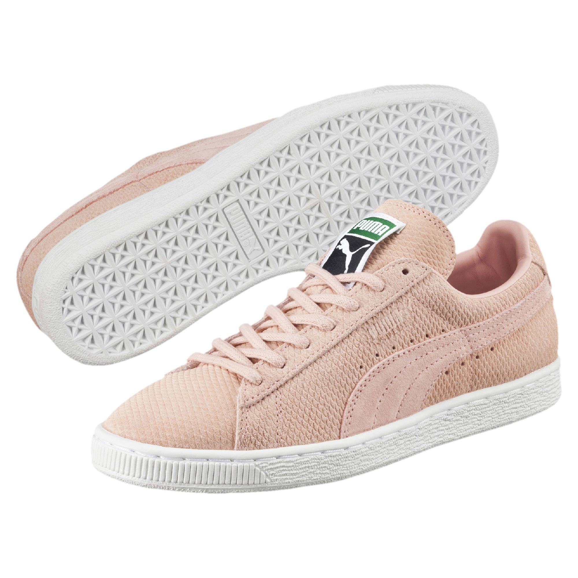 puma suede creepers rose pale