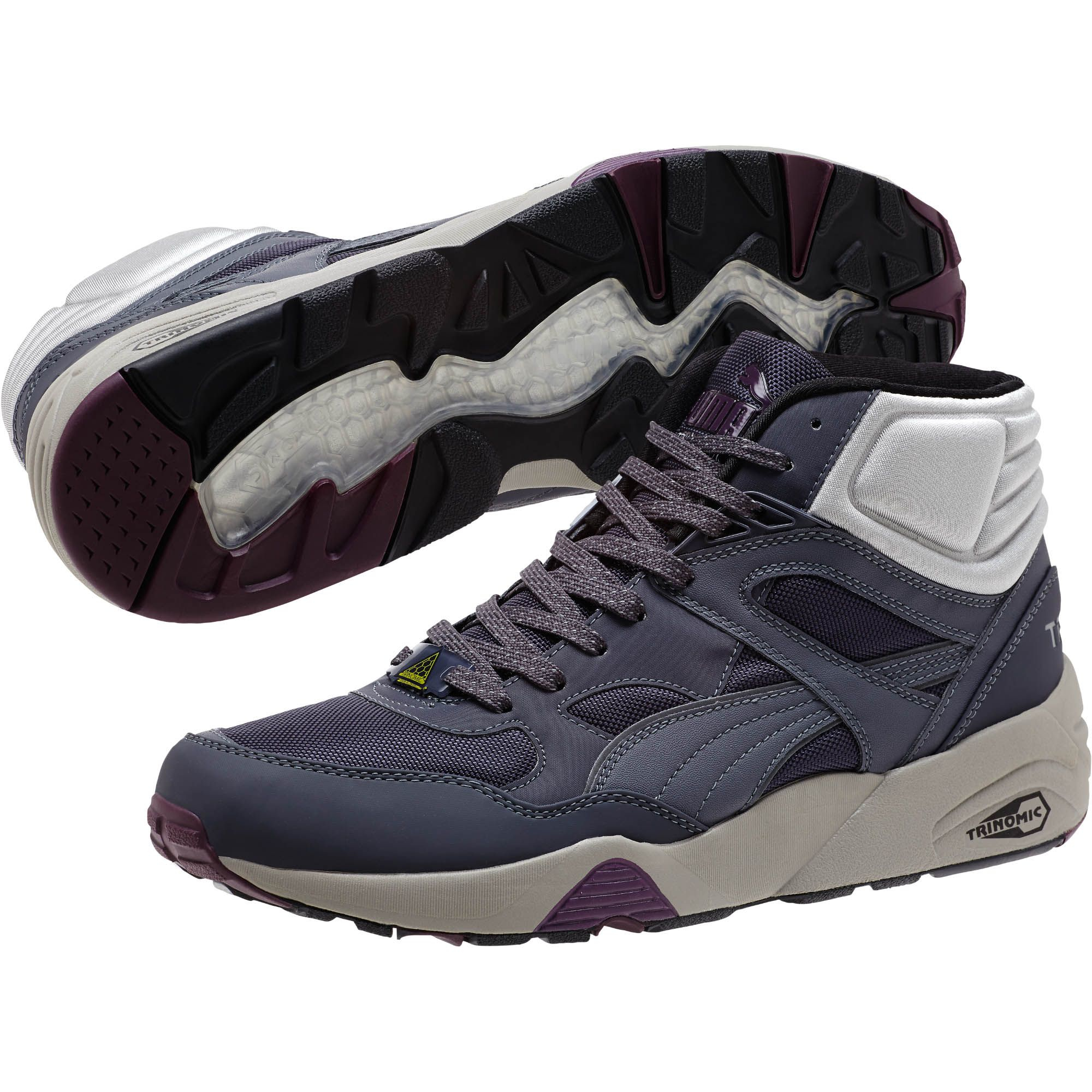 1dbd0af3e97832 Lyst - PUMA R698 Winter Mid Men s Sneakers in Gray for Men