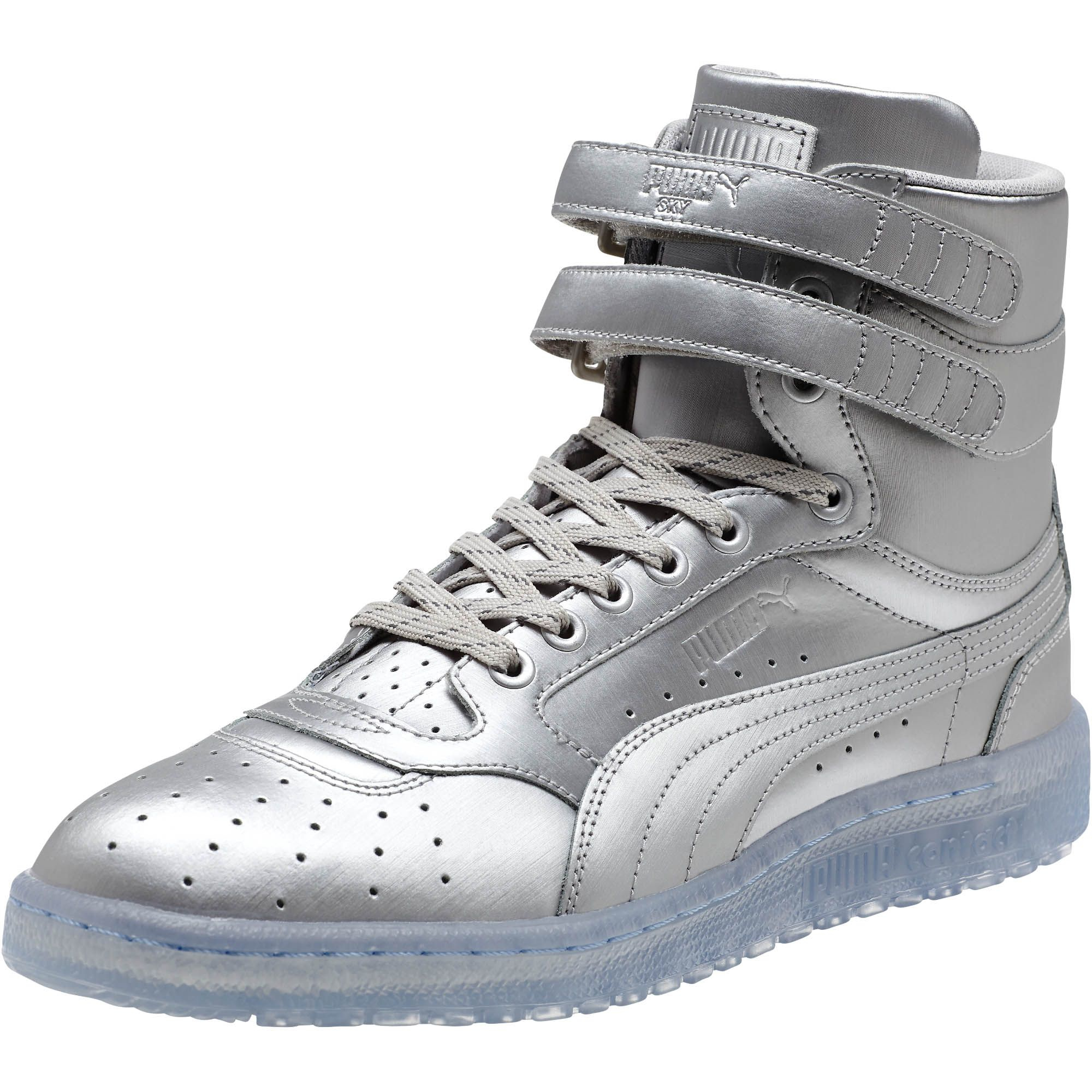 Lyst - PUMA Sky Ii Hi Platinum Men s Sneakers in Metallic for Men d8ba72a083cd