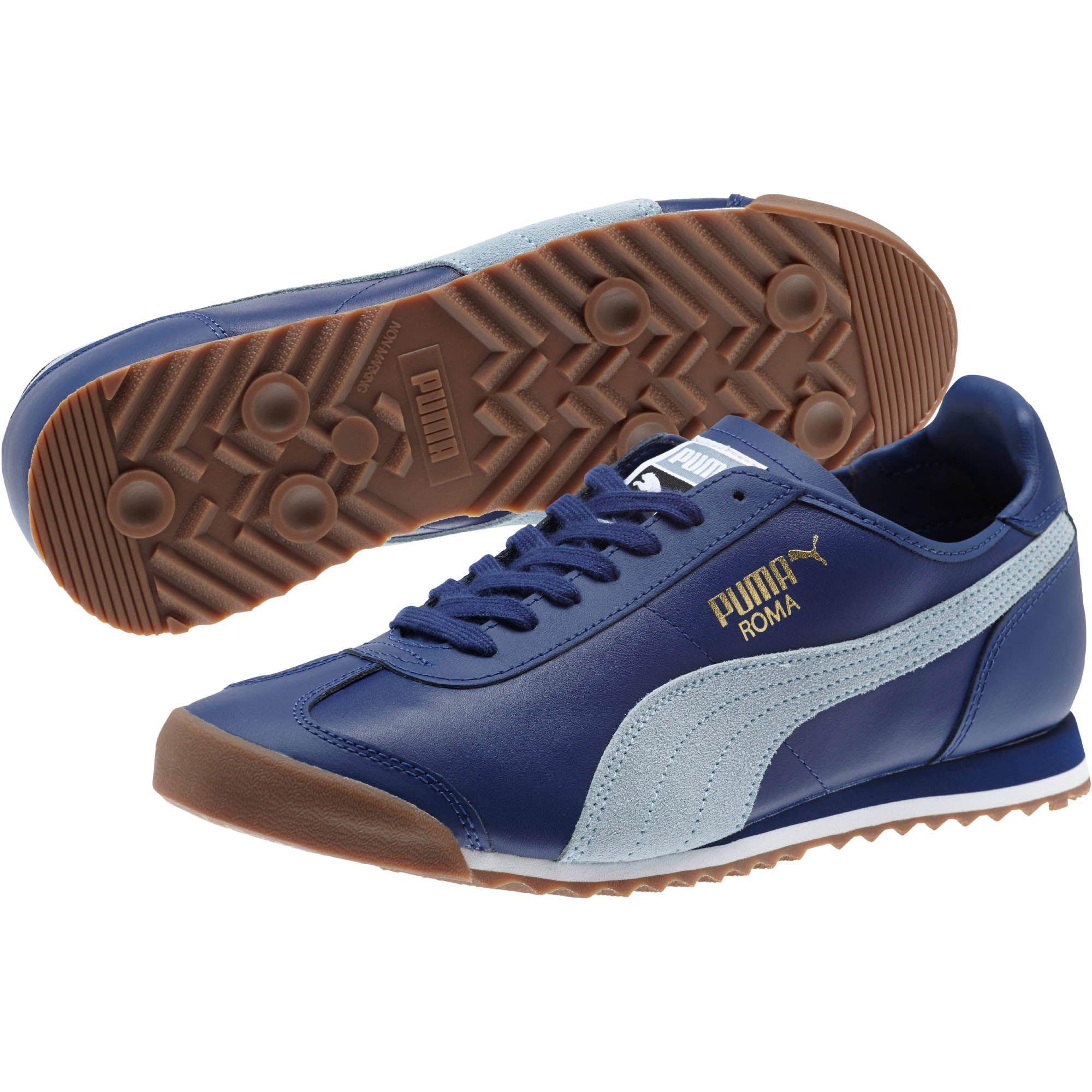 0c1b94cf893e36 Lyst - PUMA Roma Og 80 s Men s Sneakers in Blue for Men