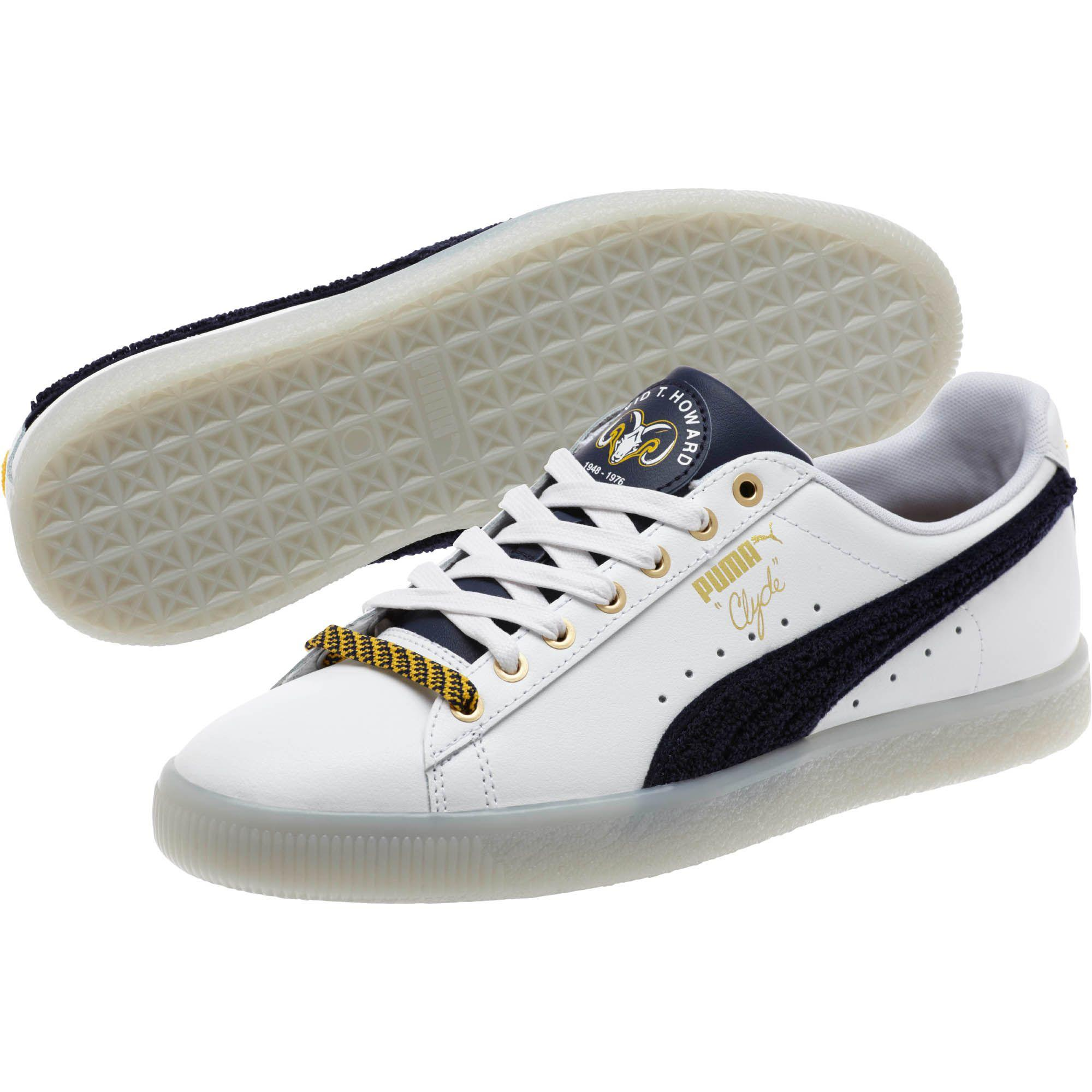 Lyst - PUMA Legacy Collection Clyde Leather Men s Sneakers in White ... f2cb70051