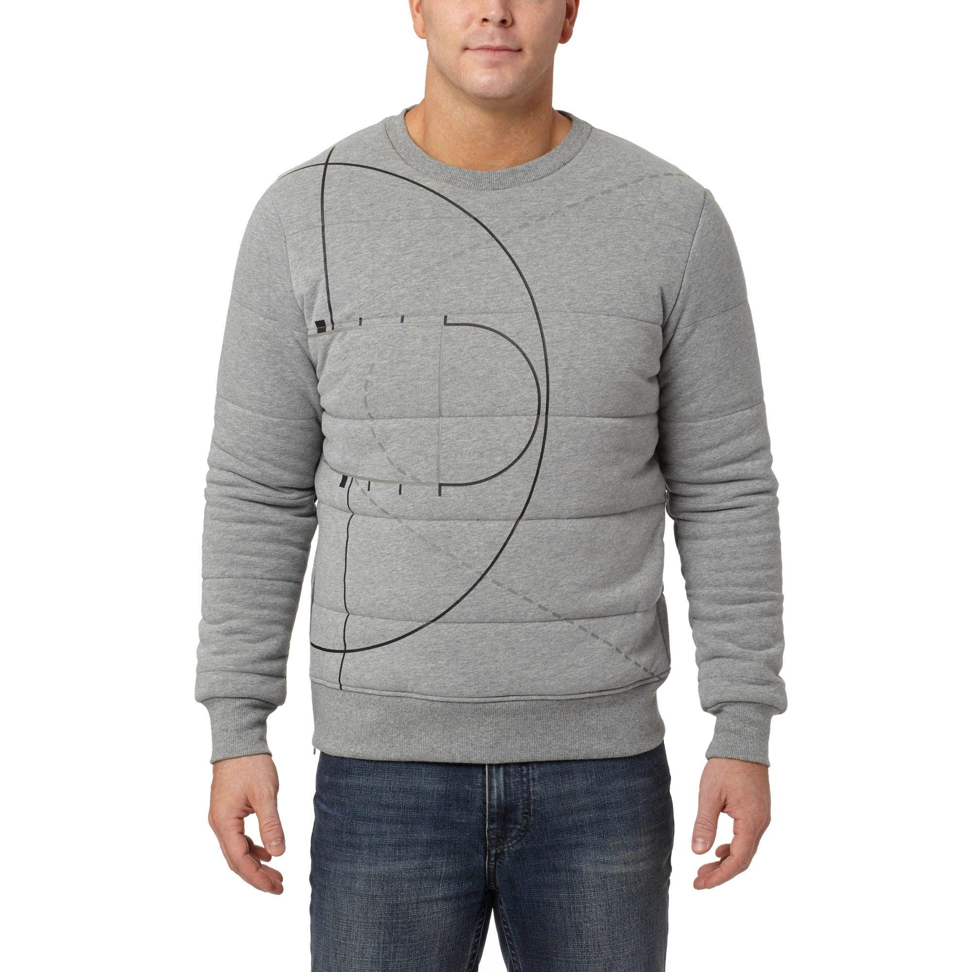 1b2b9bc9fad7 Lyst - PUMA Evo Graphic Padded Crew Sweatshirt in Gray for Men