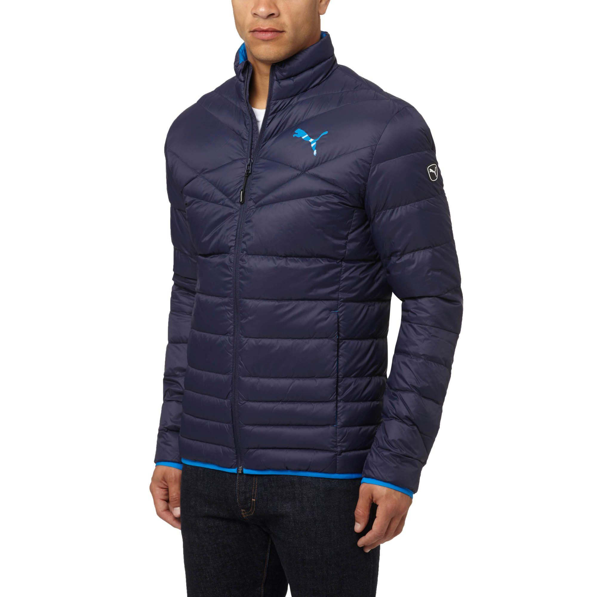 ba59fa30cd50 Lyst - PUMA Active 600 Packlite Down Jacket in Blue for Men