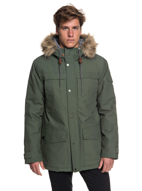 Quiksilver - Green Waterproof Hooded Parka for Men - Lyst. View fullscreen 225046aca74