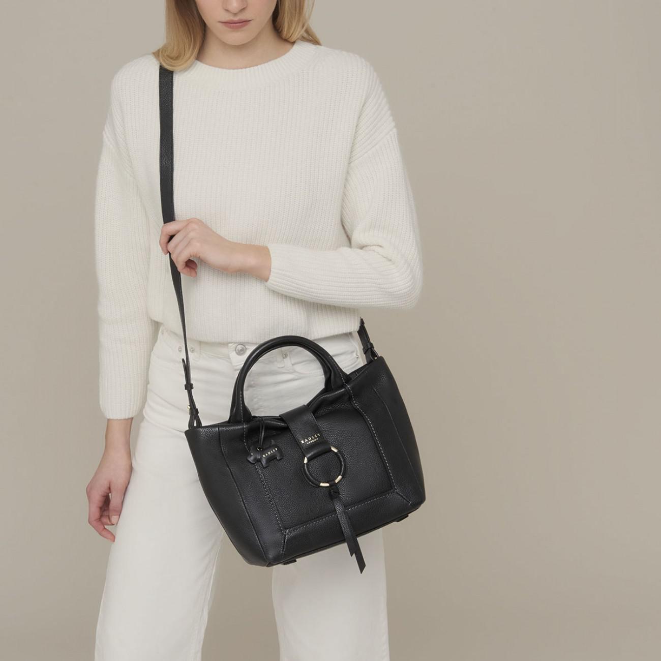be2664ac10 Radley Blickling Hall Medium Zip-top Multiway Grab Bag in Black - Lyst