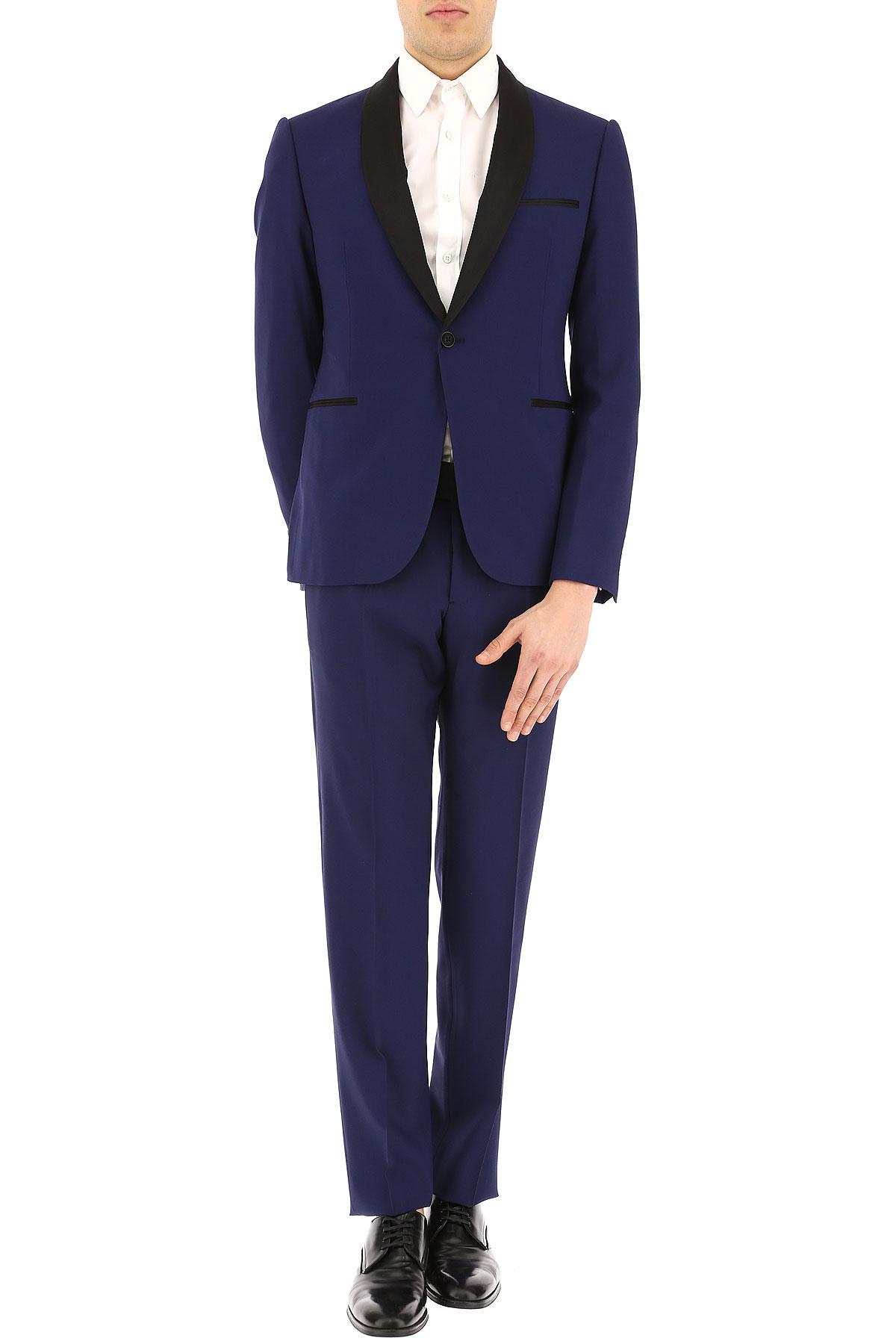 c3814789e503 Emporio Armani - Blue Costume Homme Pas cher en Soldes for Men - Lyst.  Afficher en plein écran
