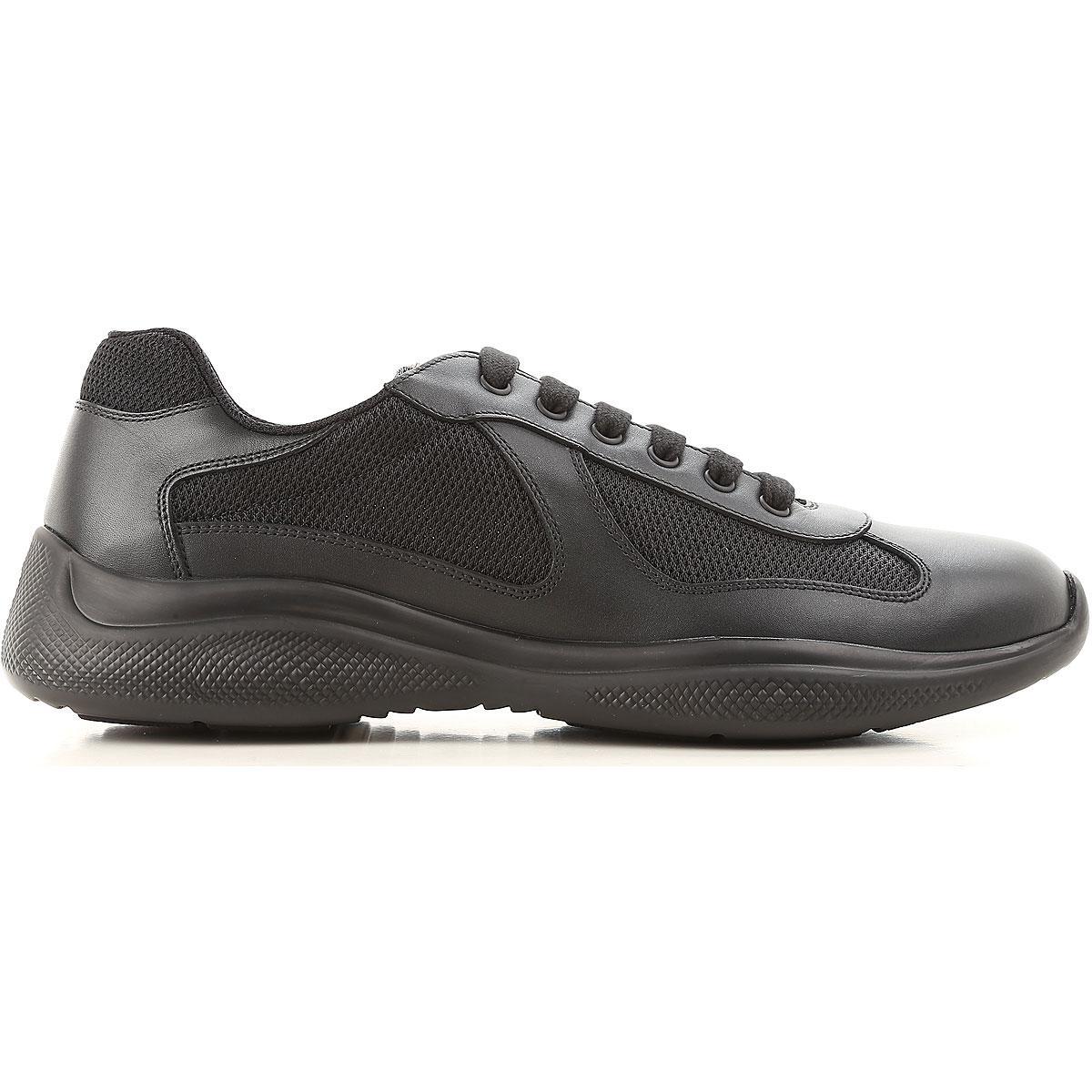 Sneaker Pour En Cher Soldes Homme Pas Prada Coloris Noir j5R4AL