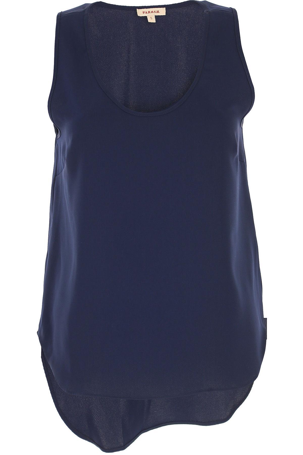 Lyst - P.A.R.O.S.H. Top For Women On Sale In Outlet in Blue 0a5b442a03e