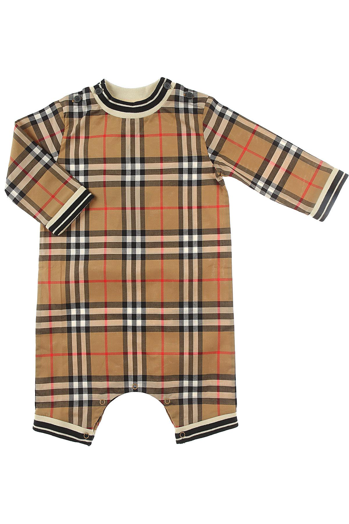 3b4433d4b Burberry Baby Bodysuits & Onesies For Girls On Sale in Brown - Lyst