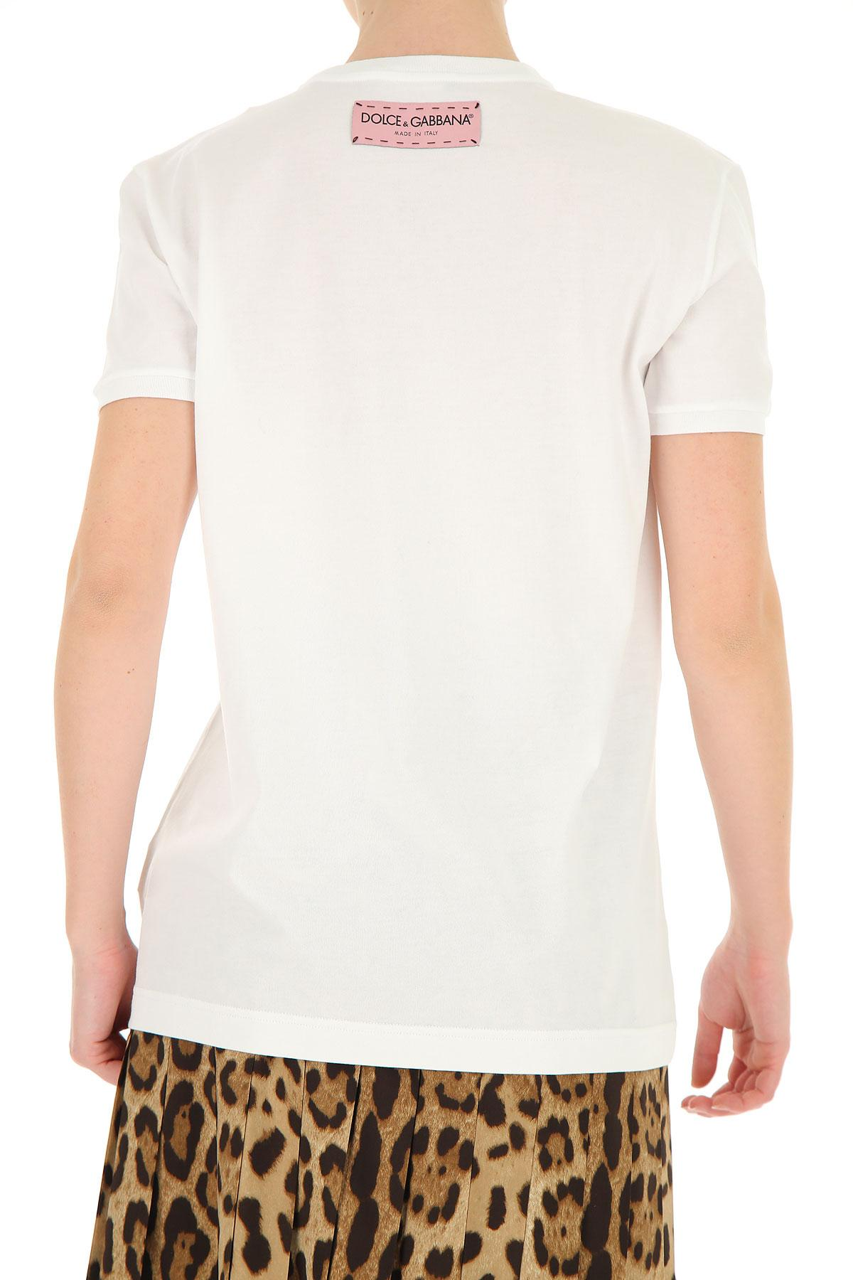 0937b6b31a9 Dolce   Gabbana - White T-shirt For Women - Lyst. View fullscreen
