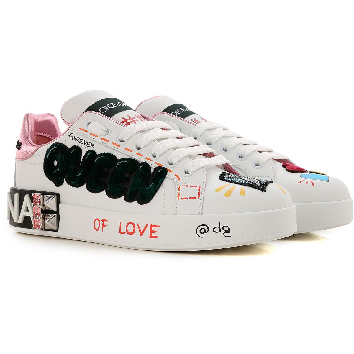 6da76a45e2 Zapatillas Deportivas de Mujer Dolce & Gabbana de color Blanco - Lyst