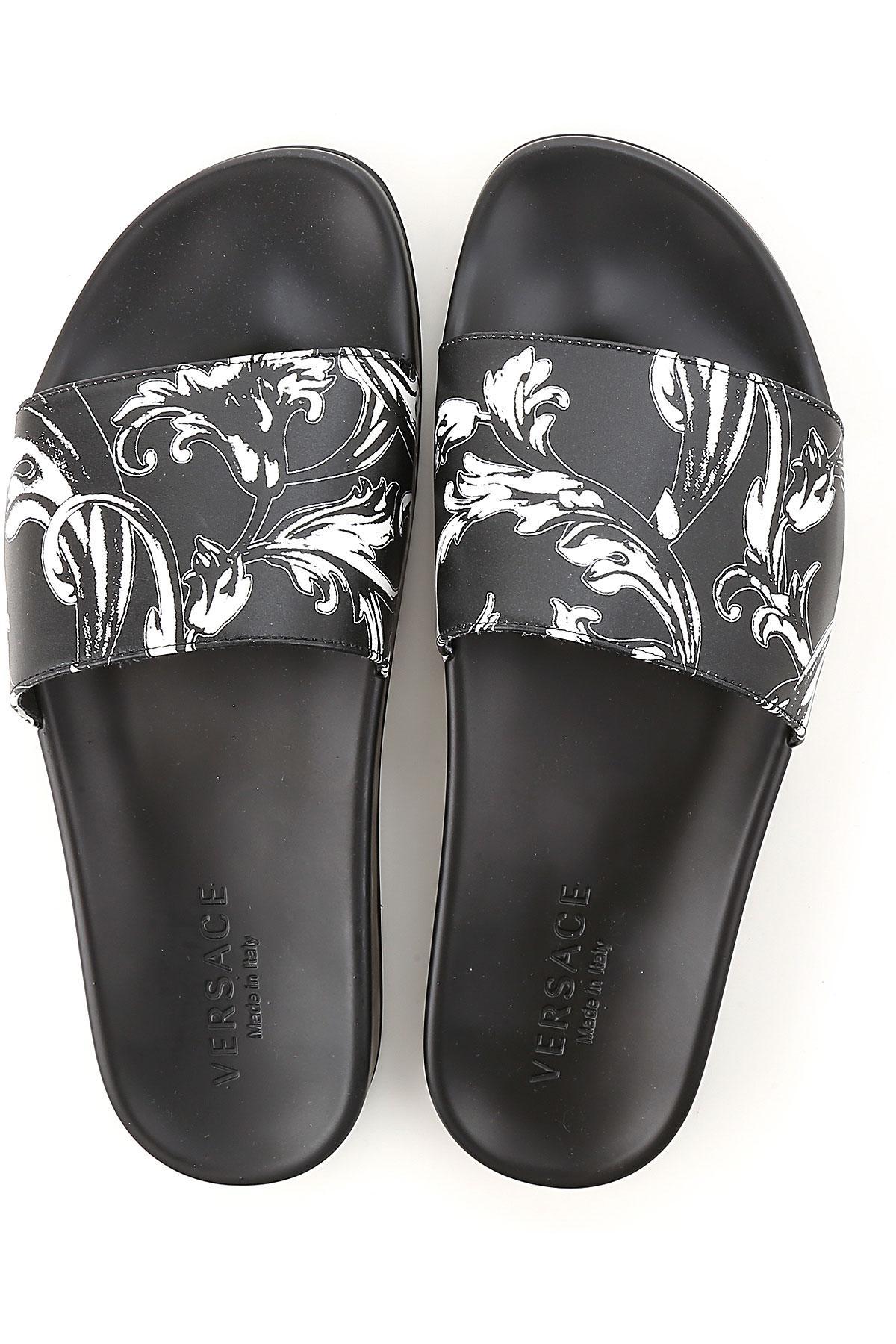 Versace - Black Sandale Homme for Men - Lyst. Afficher en plein écran 3da14a9ab40