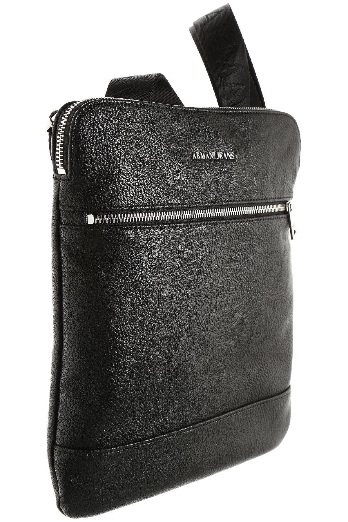 24d512768fc3 Armani Jeans - Black Messenger Bag For Men On Sale for Men - Lyst. View  fullscreen