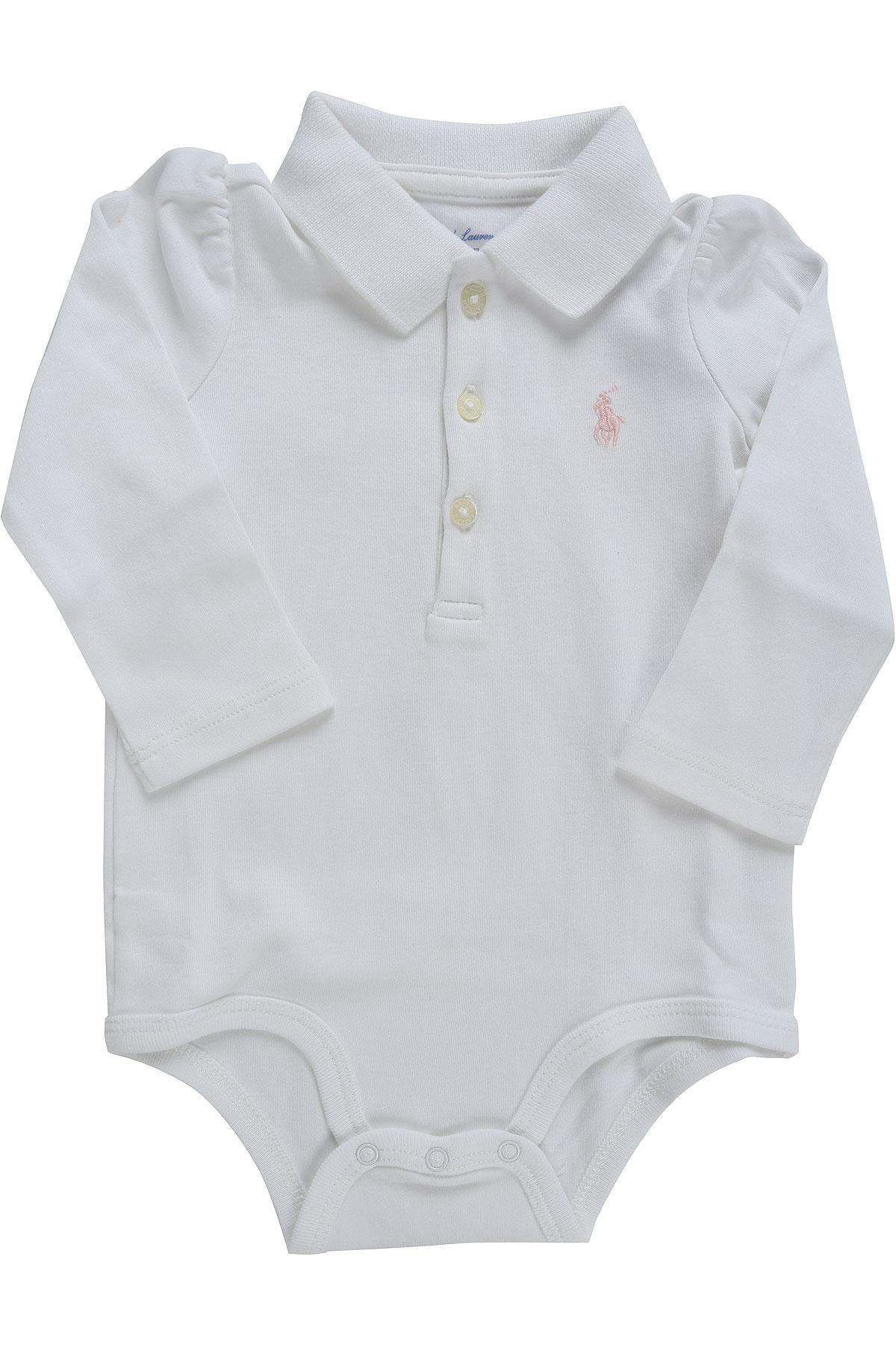 9e79042bf Lyst - Ralph Lauren Baby Bodysuits   Onesies For Girls On Sale in White